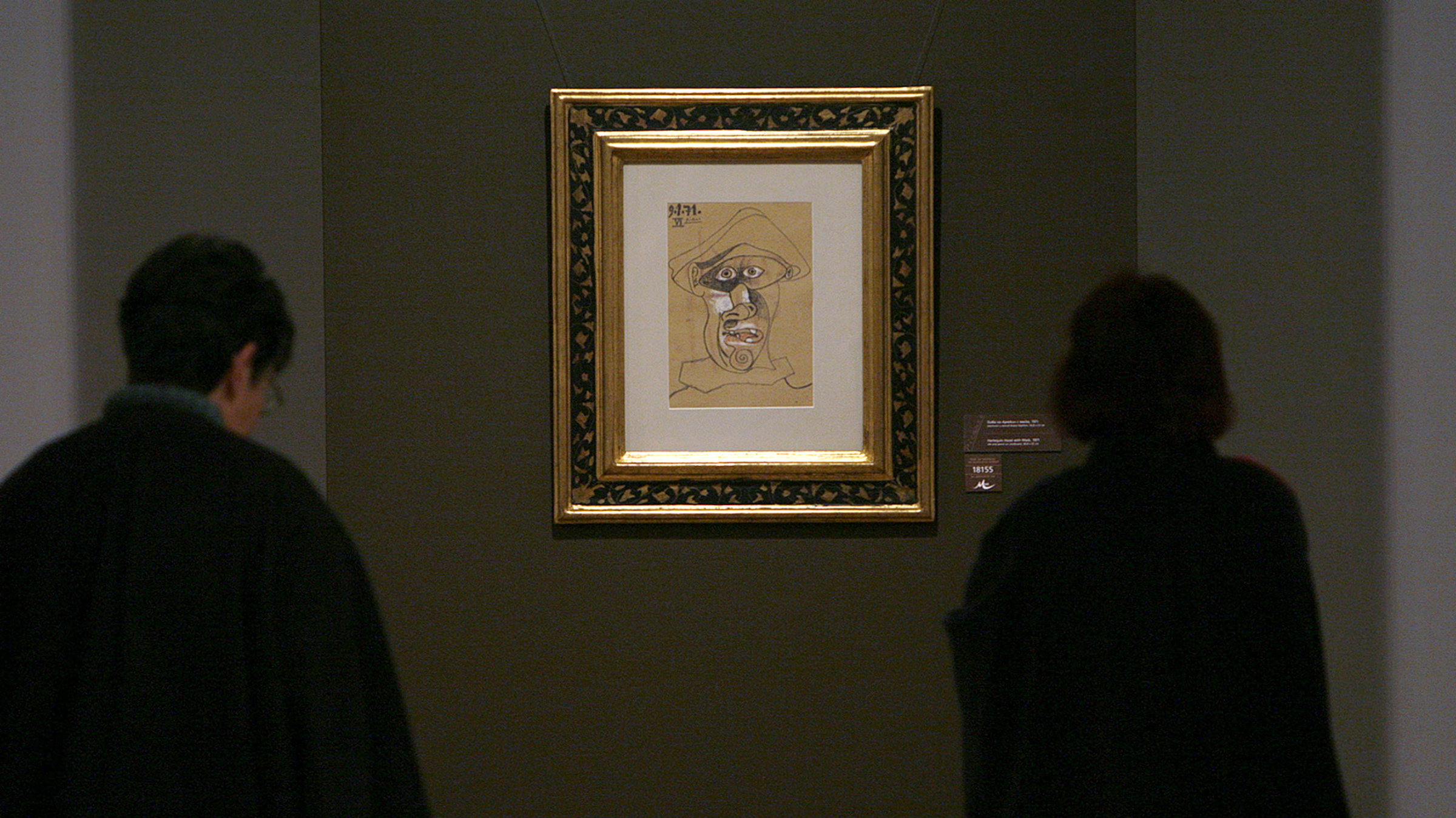 """Picasso's """"Harlequin Head,"""" gone, but not forgotten."""