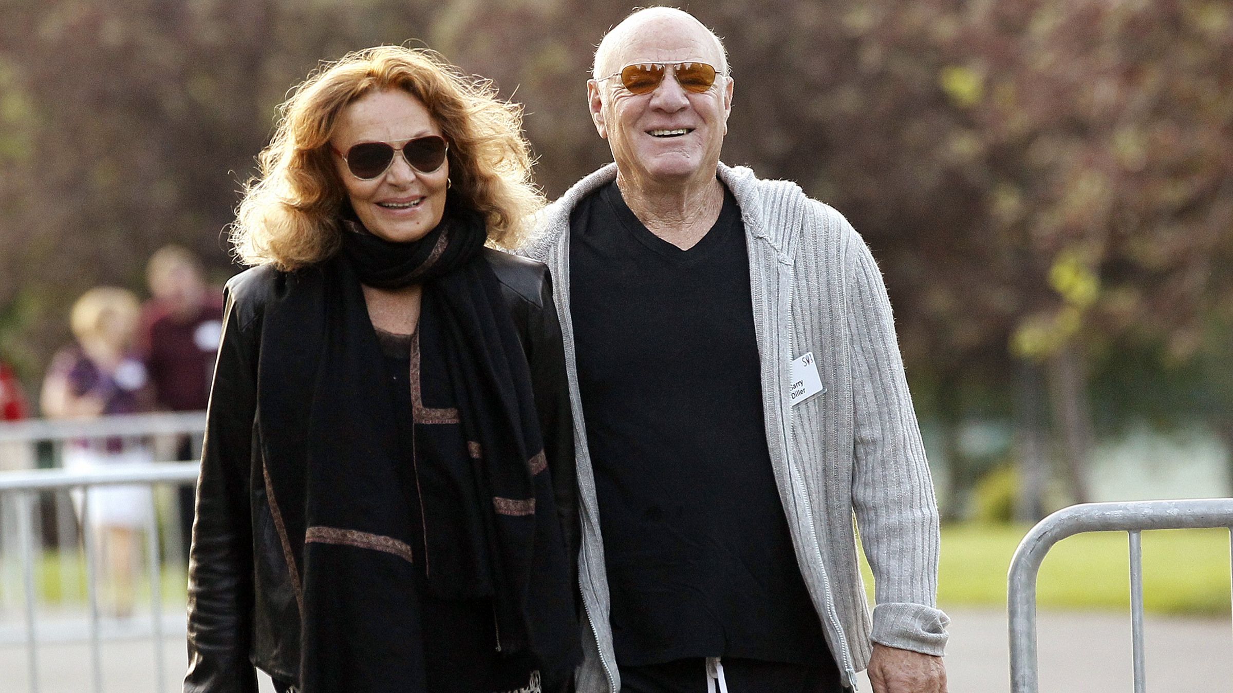 Power couple Barry Diller and DVF look fab at this year's conference