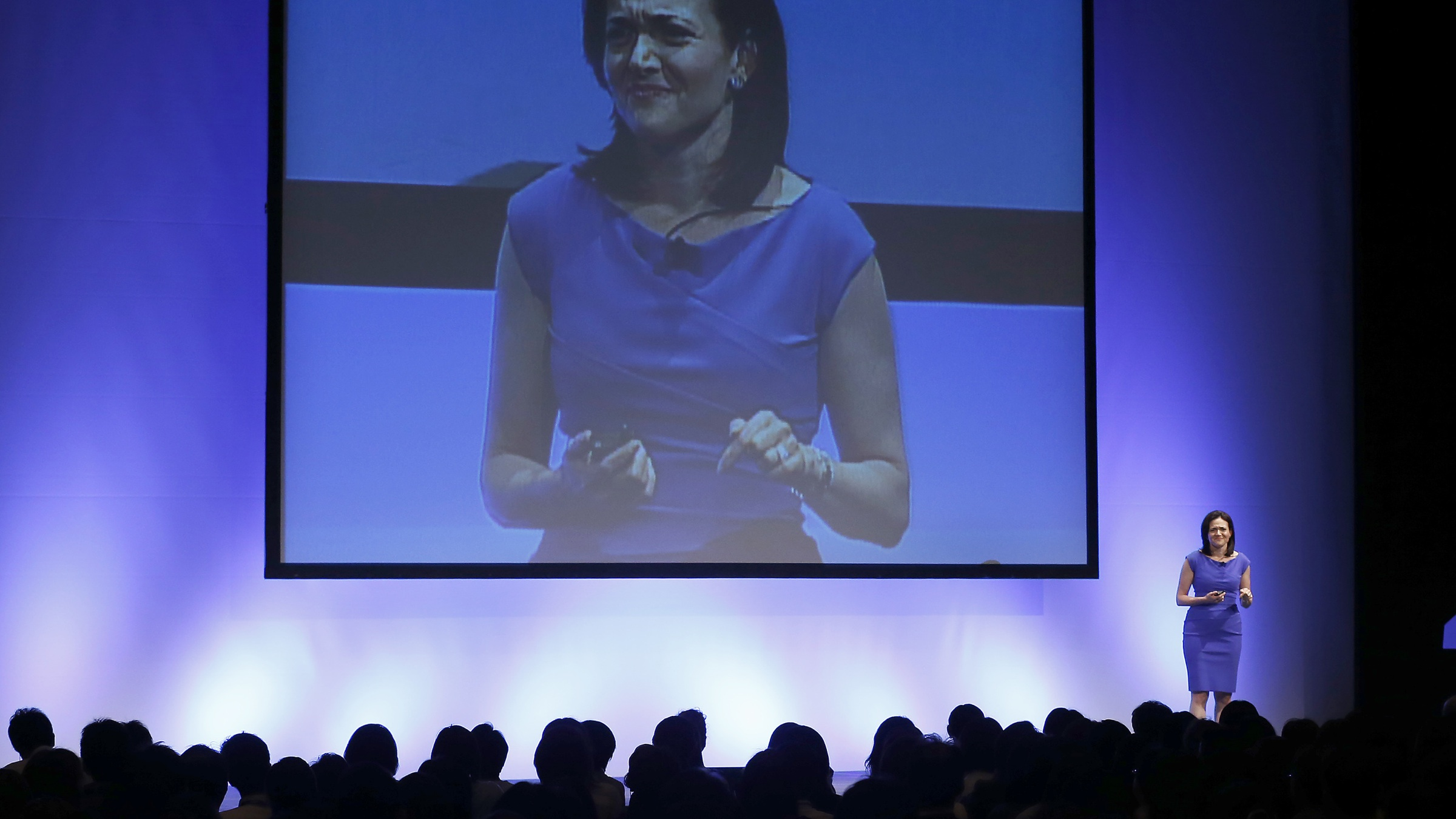 Facebook Chief Operating Officer Sheryl Sandberg delivers a speech during Global Women Leadership Summit in Tokyo, Tuesday, July 2, 2013. (AP Photo/Shizuo Kambayashi)