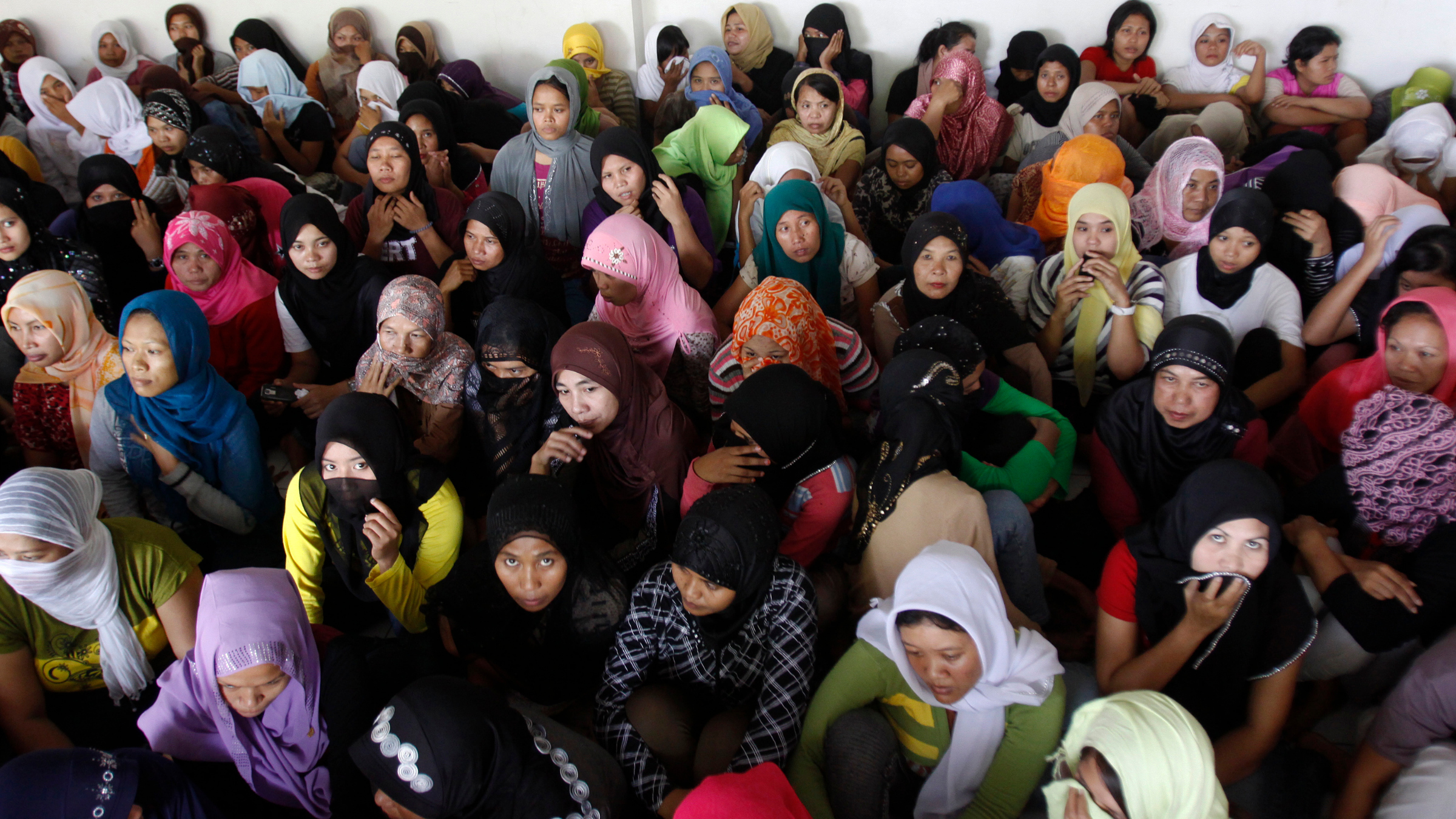 Indonesians ready to fly to Saudi Arabia to work as maids