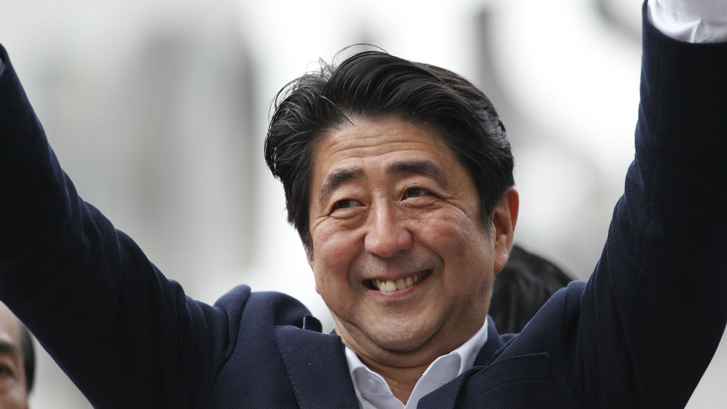 Shinzo Abe Japan campaigning