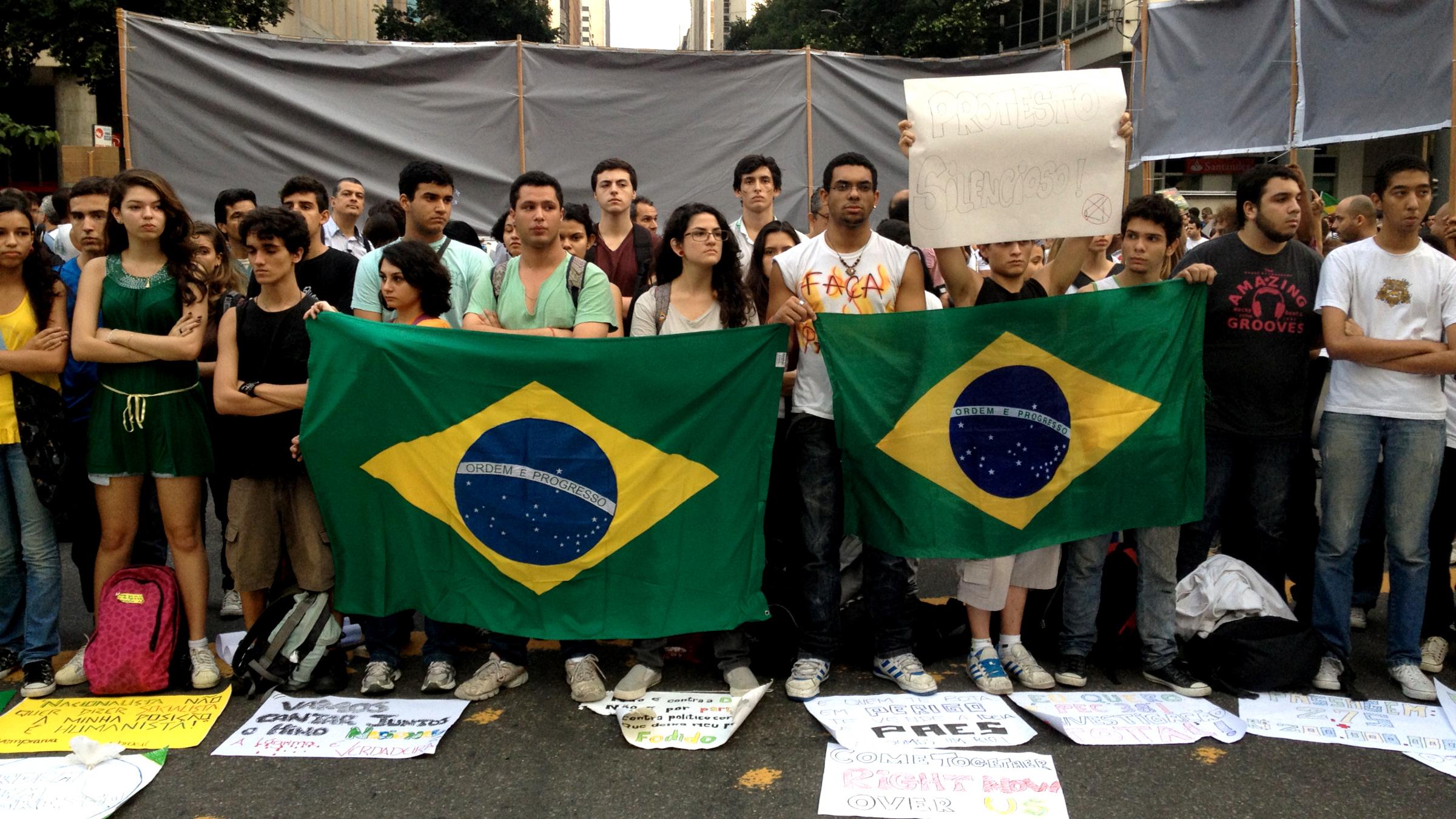 Silent protest in Rio