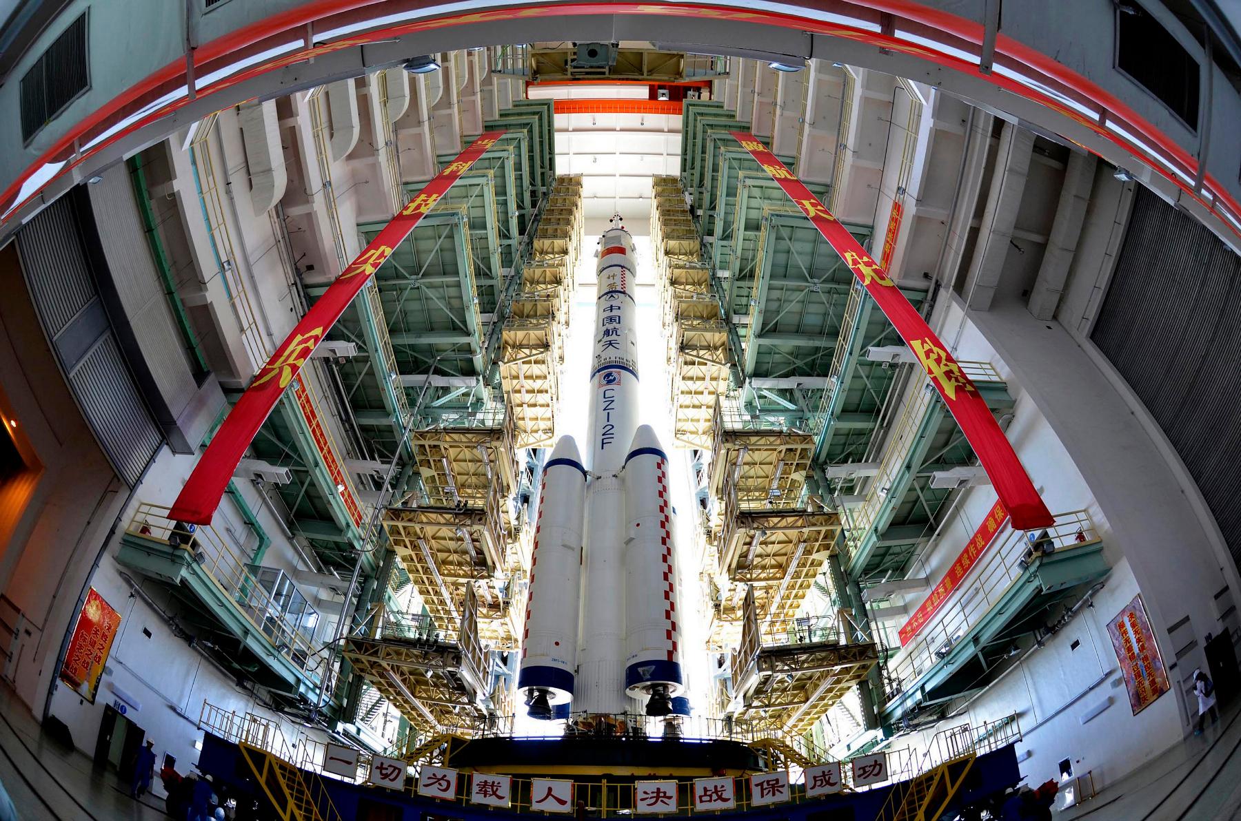 The Shenzhou-9 manned spacecraft