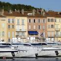 Docked luxury yachts are seen in Saint-Tropez harbour on the French Riviera July 30, 2010. REUTERS/Charles Platiau