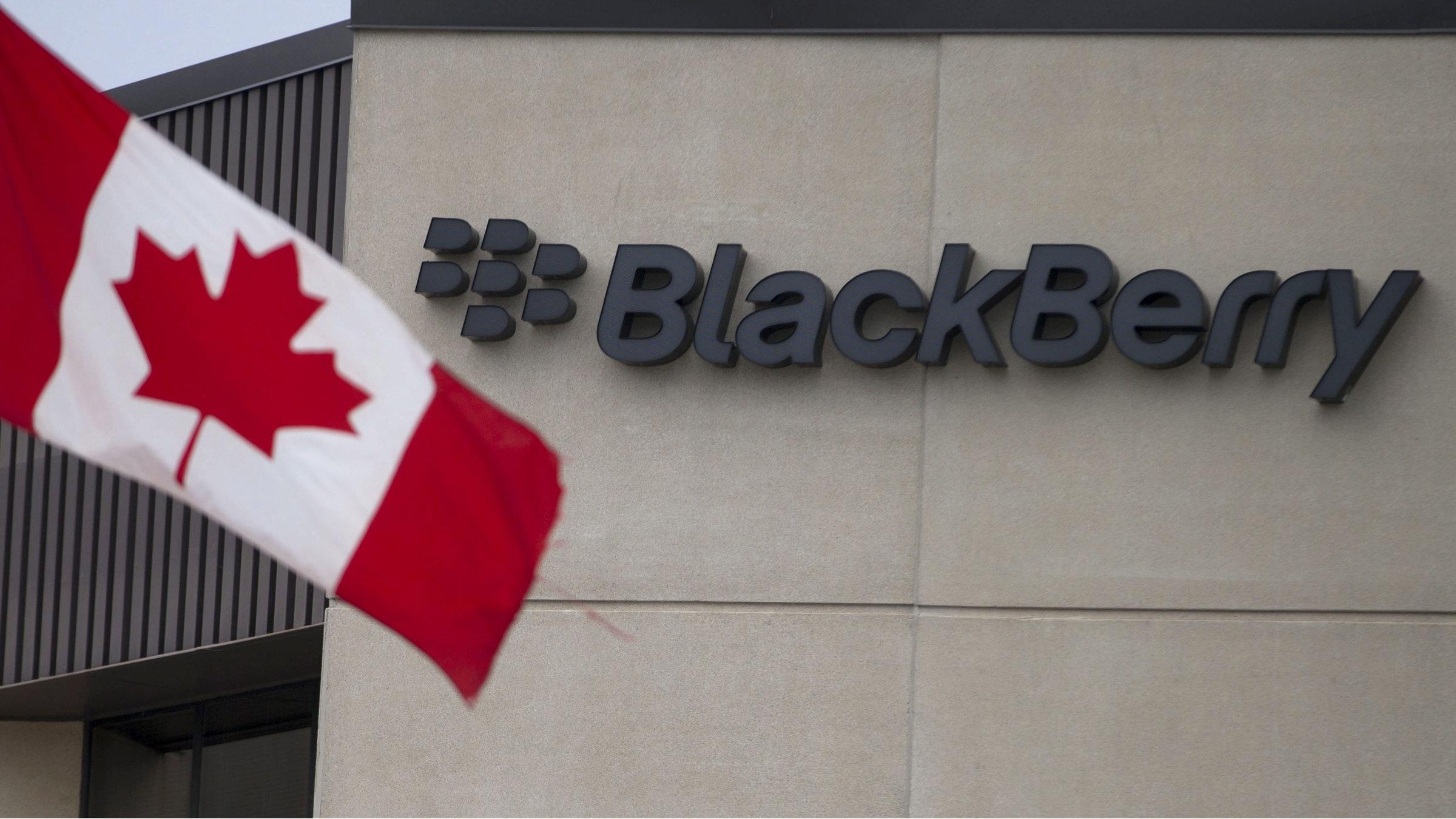 blackberry canadian flag