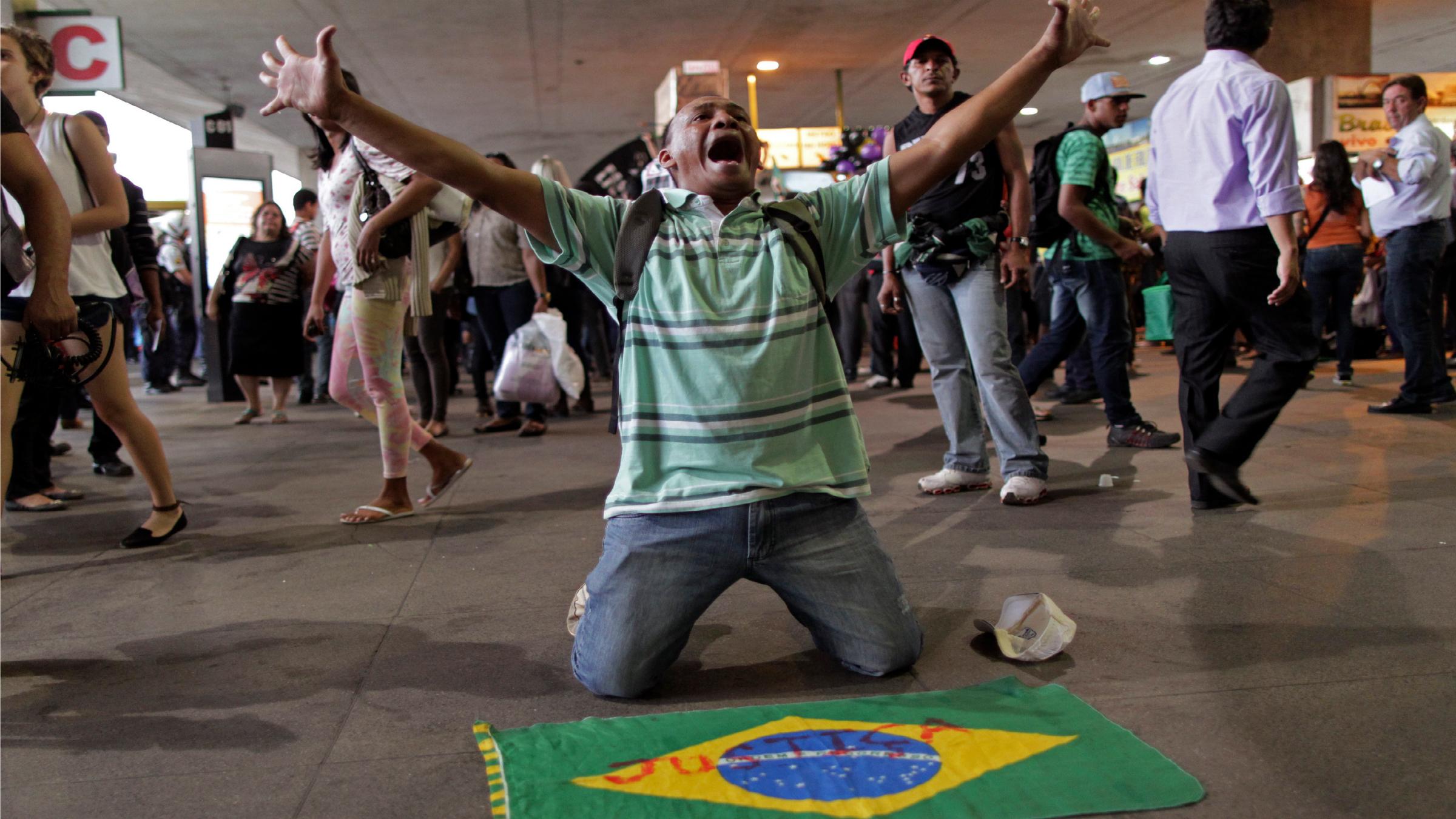 Brazilian protestor