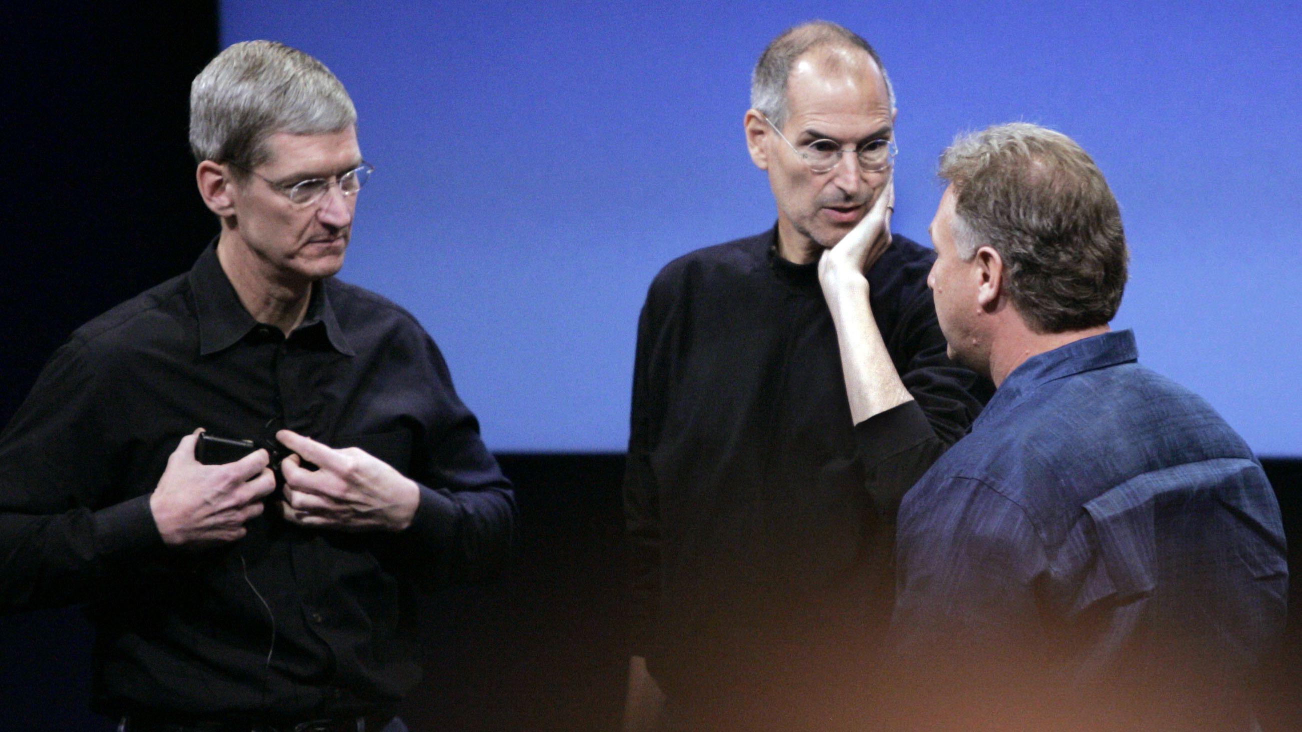 Tim Cook, Steve Jobs, and Phil Schiller