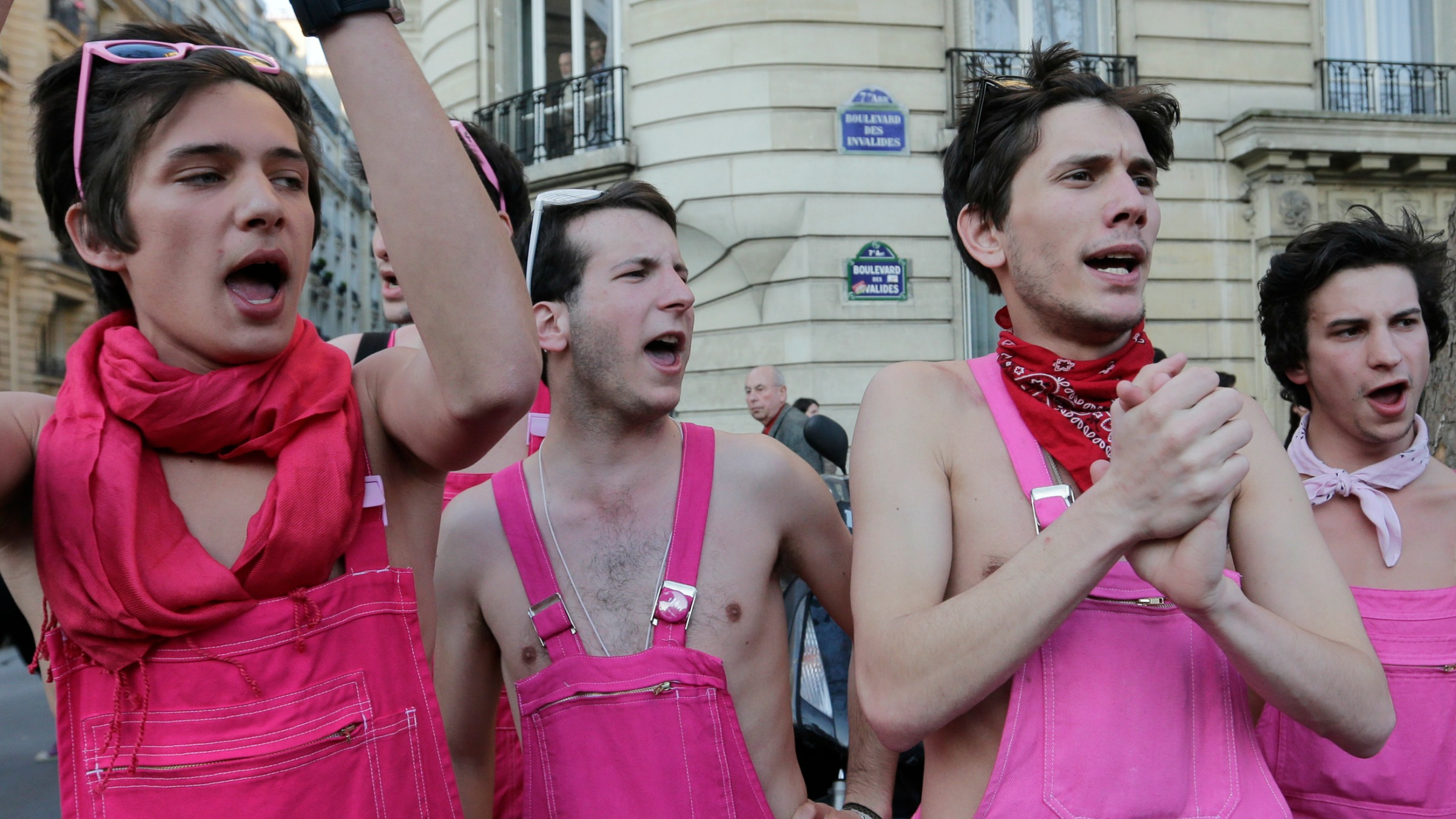 Long before breast cancer awareness, real men wore pink.