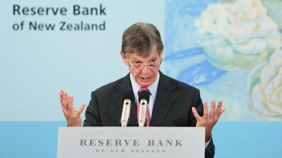 Reserve Bank Governor Graeme Wheeler speaks during his first cash rate announcement at the Reserve Bank.