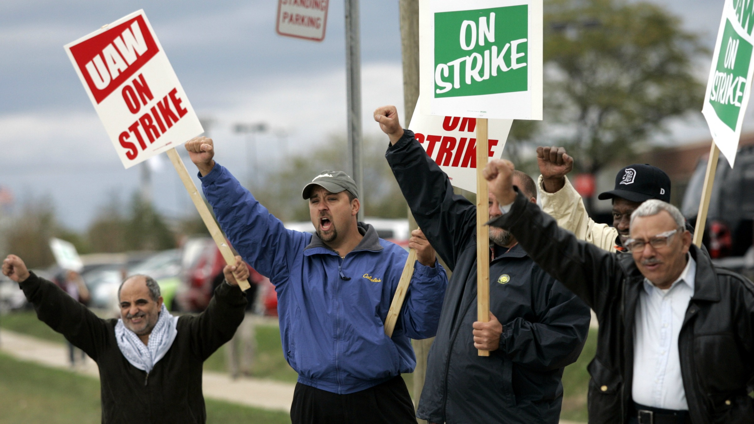 Overall union membership is declining, too.