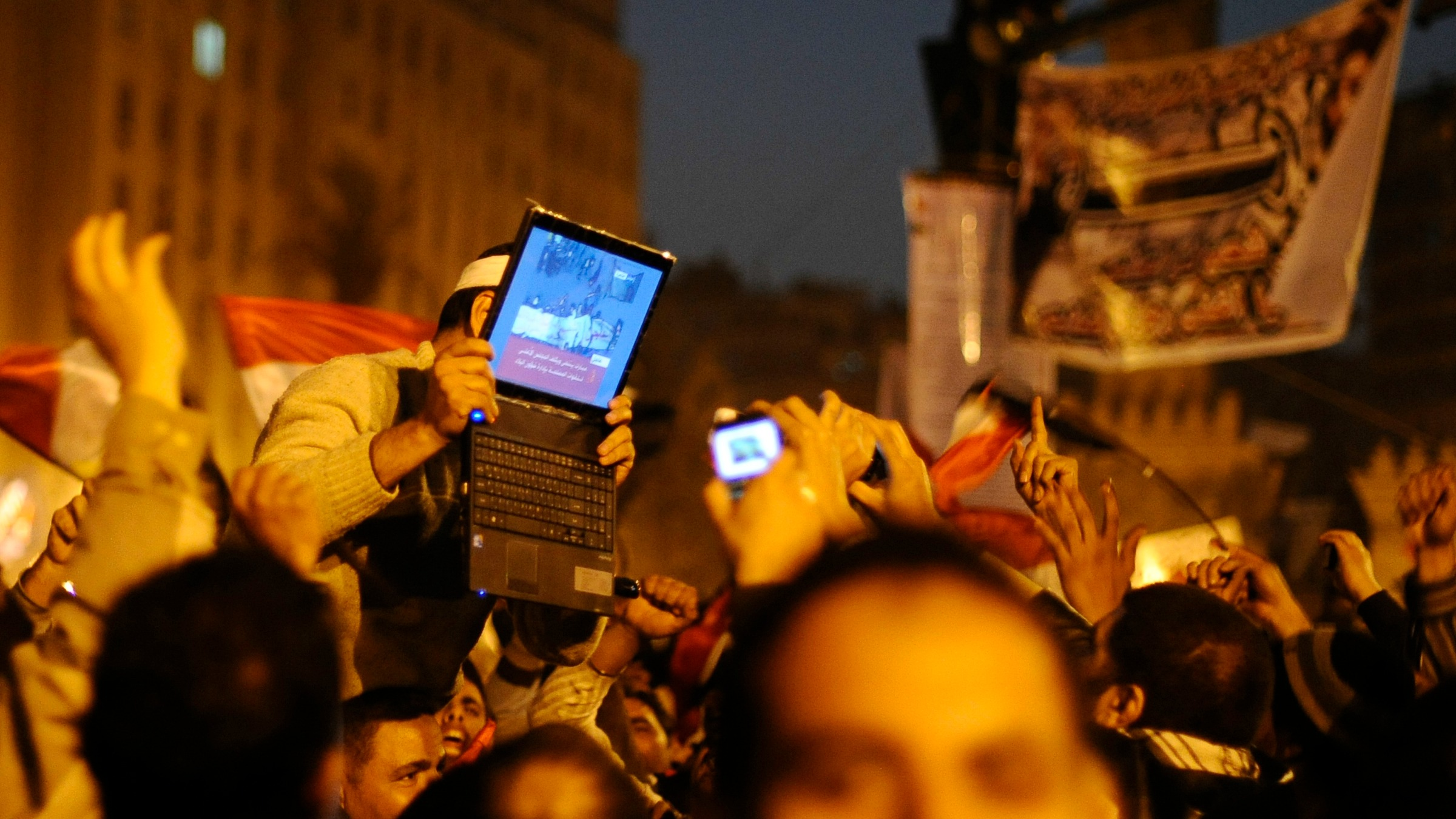 Technology played a major part in the uprisings in Egypt and other Arab countries.