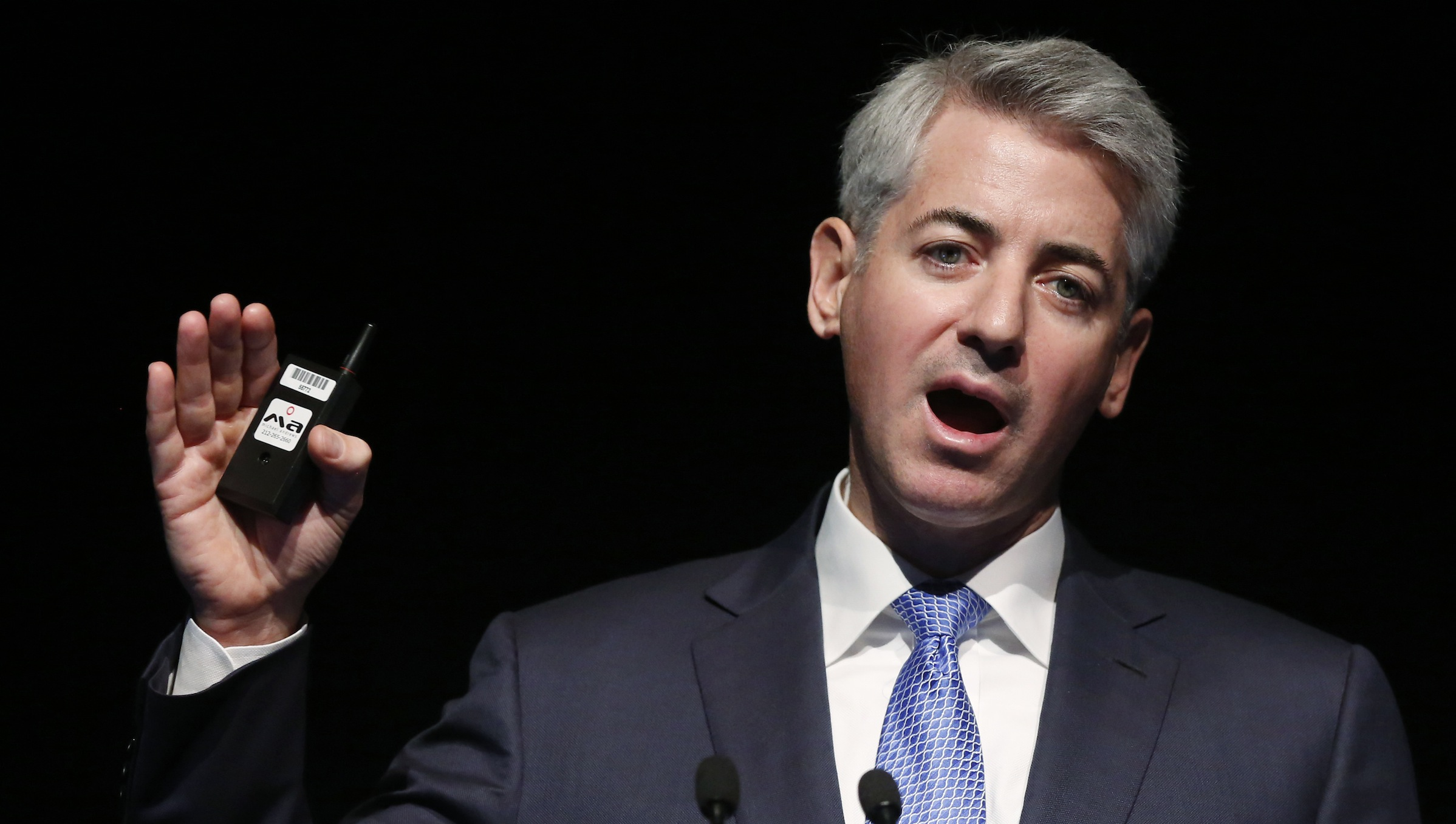 Bill Ackman, chief executive officer and portfolio manager of Pershing Square Capital Management, L.P., speaks at the Ira Sohn Investment Conference in New York, May 8, 2013. REUTERS/Brendan McDermid (UNITED STATES - Tags: BUSINESS) - RTXZFGG