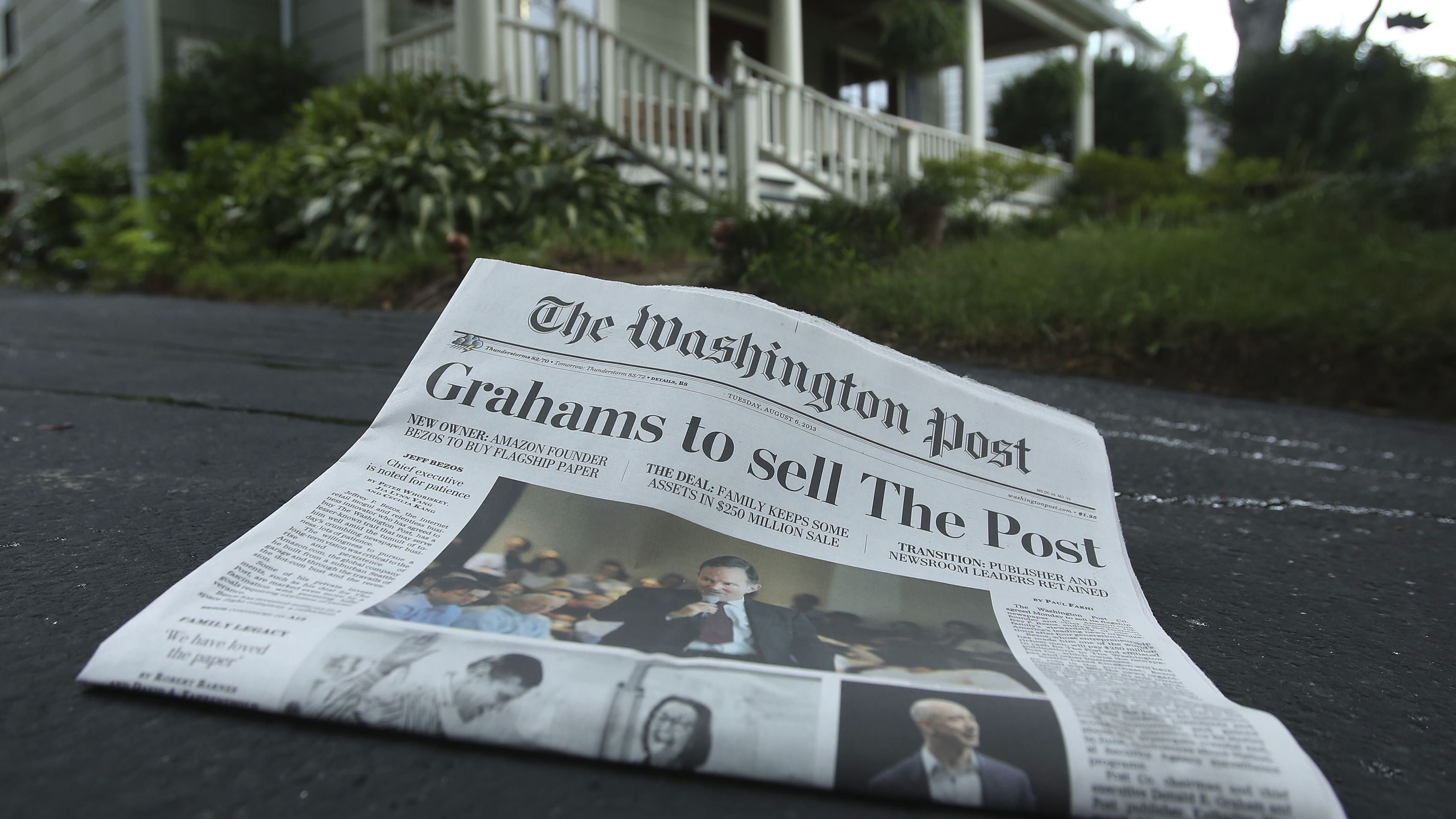 Washington Post announcing its own sale.