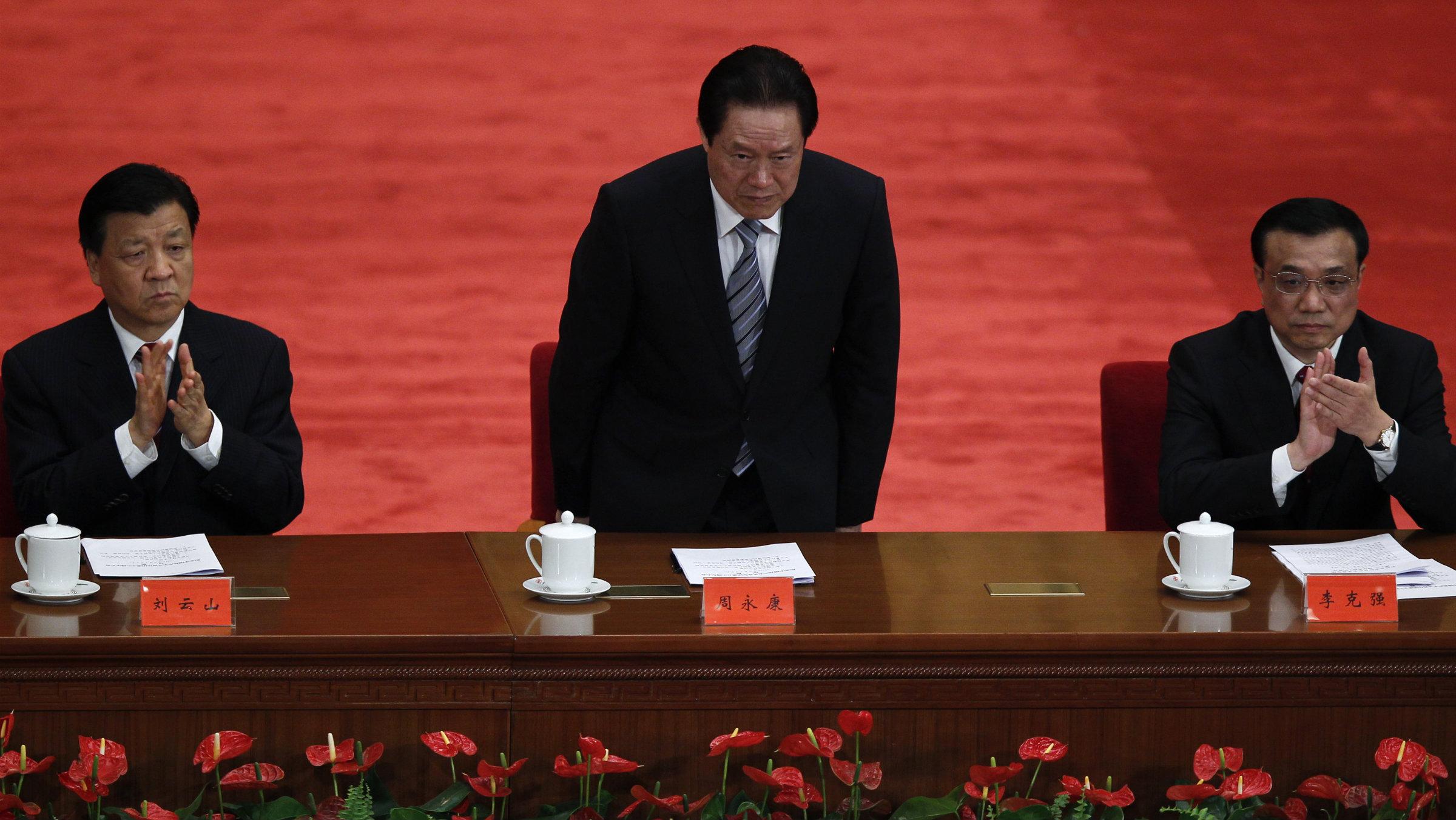 Zhou Yongkang China corruption crackdown