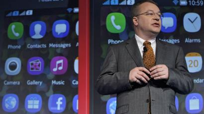 Nokia CEO Stephen Elop talks up the Asha 501 an almost-smart phone.