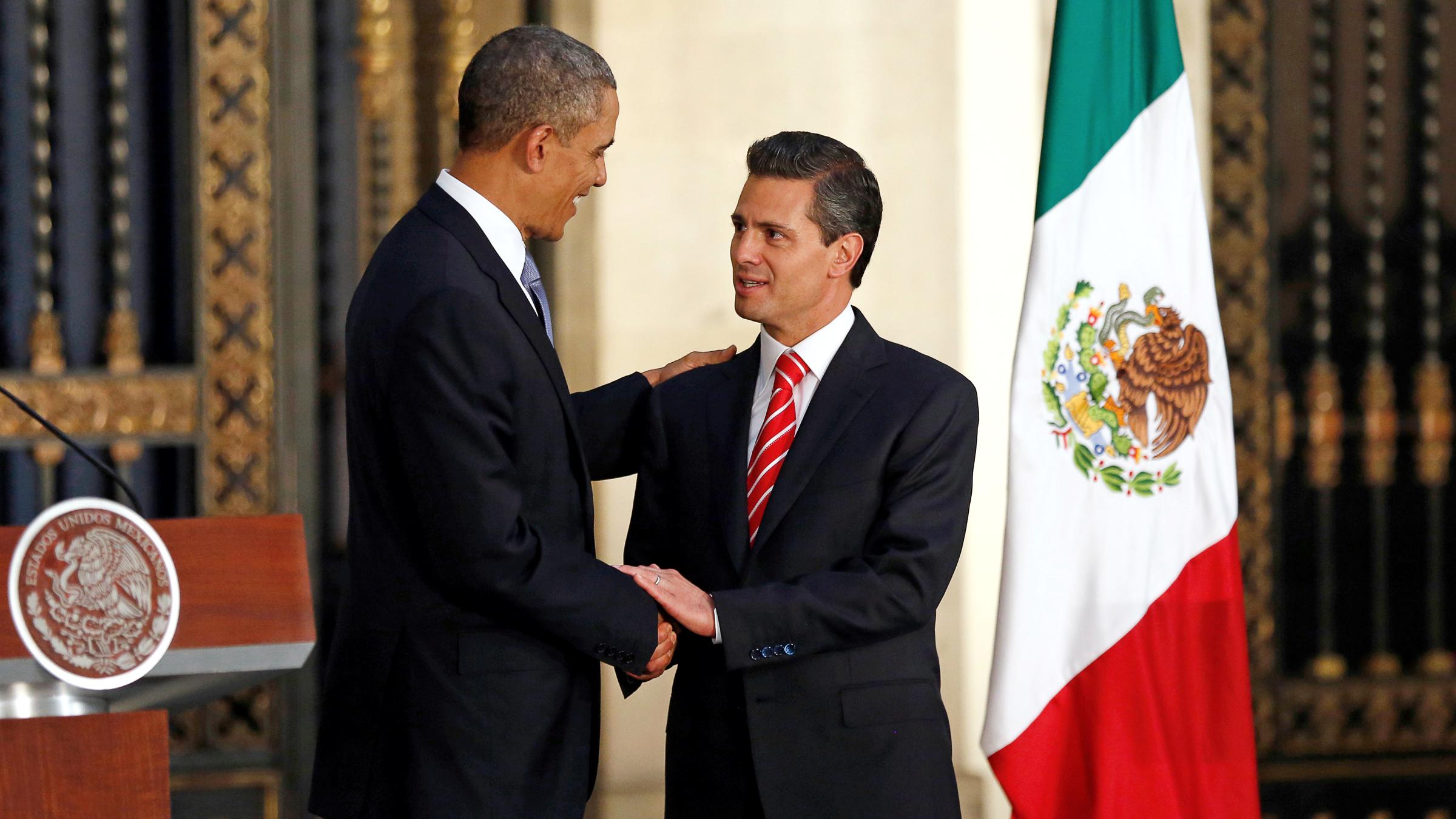 US president Barack Obama and Mexico president Enrique Peña Nieto
