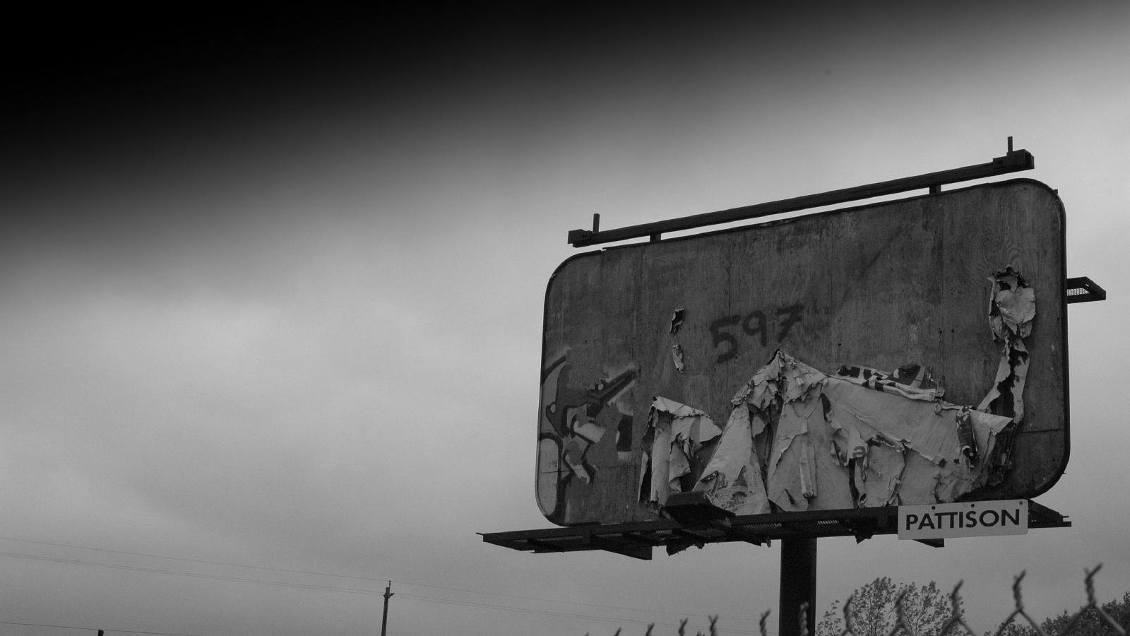 billboard hedge fund advertising