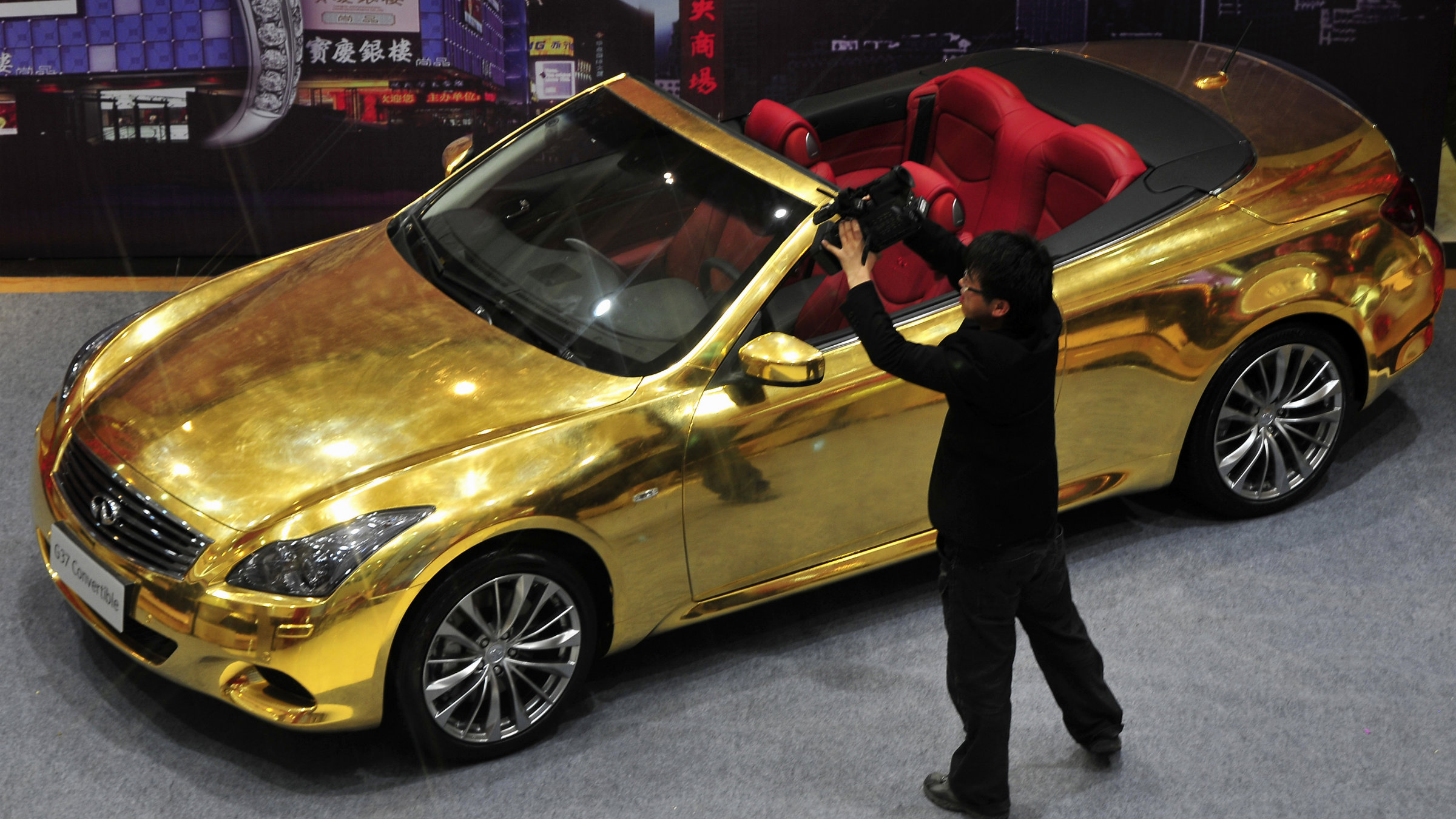It takes grey income to buy a gold-plated Infiniti G37.