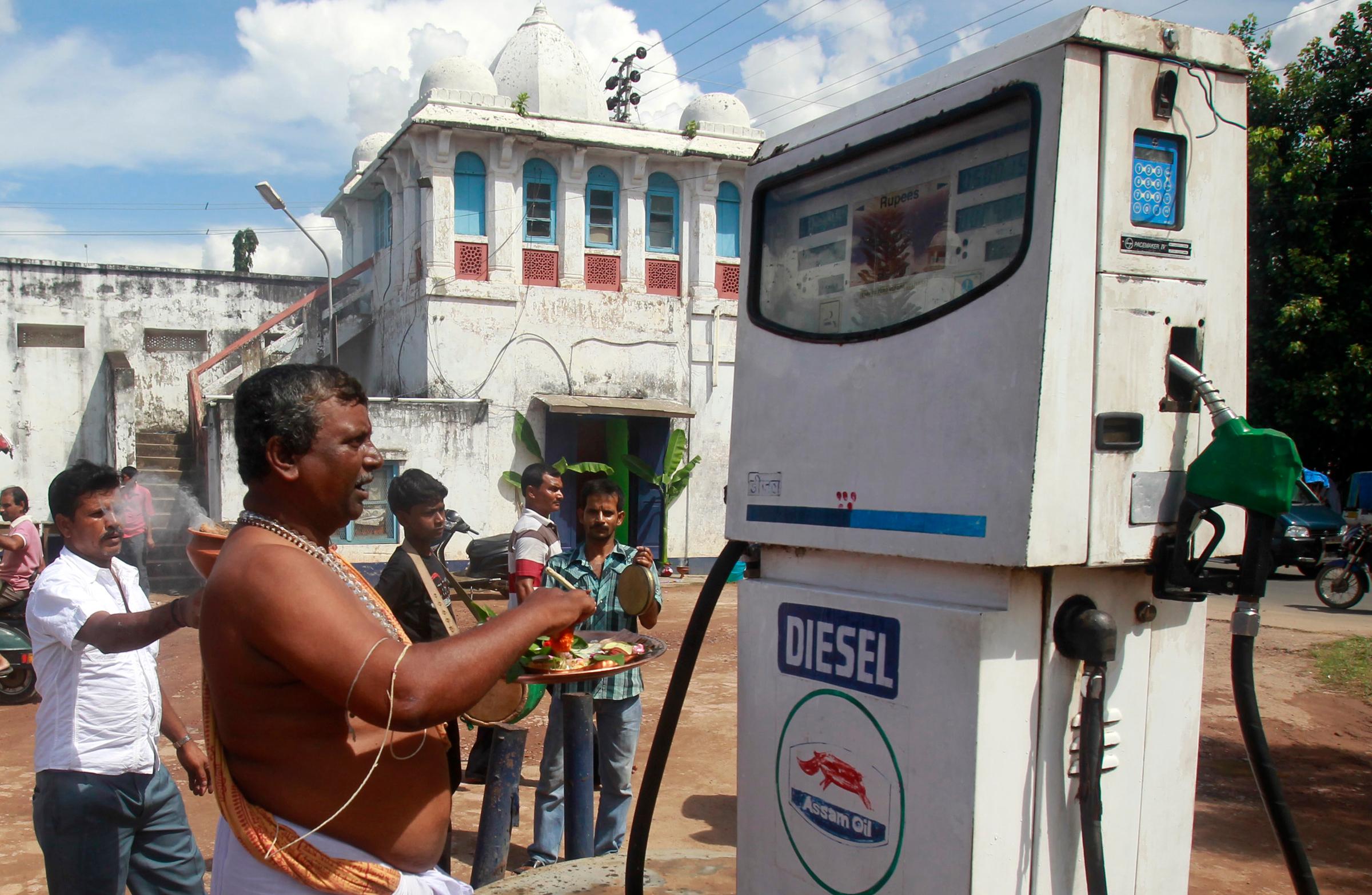 Indian fuel station