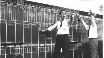 Stock trading in Hong Kong in the 1970s, believed to be at the old Hong Kong Stock Exchange.