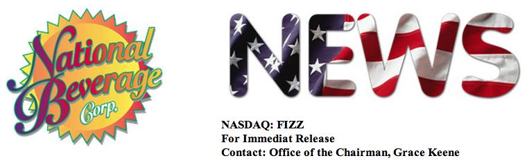 Header of National Beverage press release