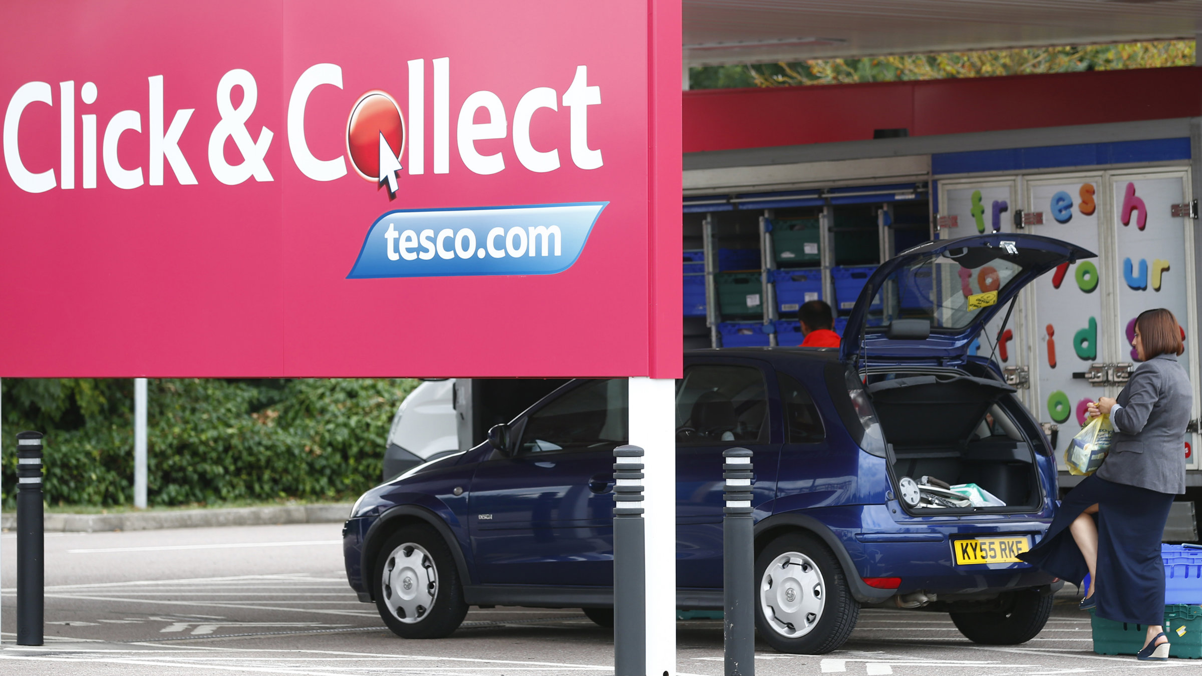 Tesco groceries ordered on Tesco tablets are best paid for with Tesco bank accounts and retrieved with Tesco gas.