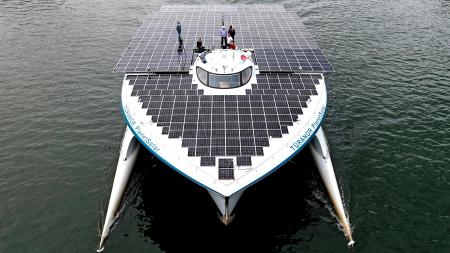 World's largest solar powered boat