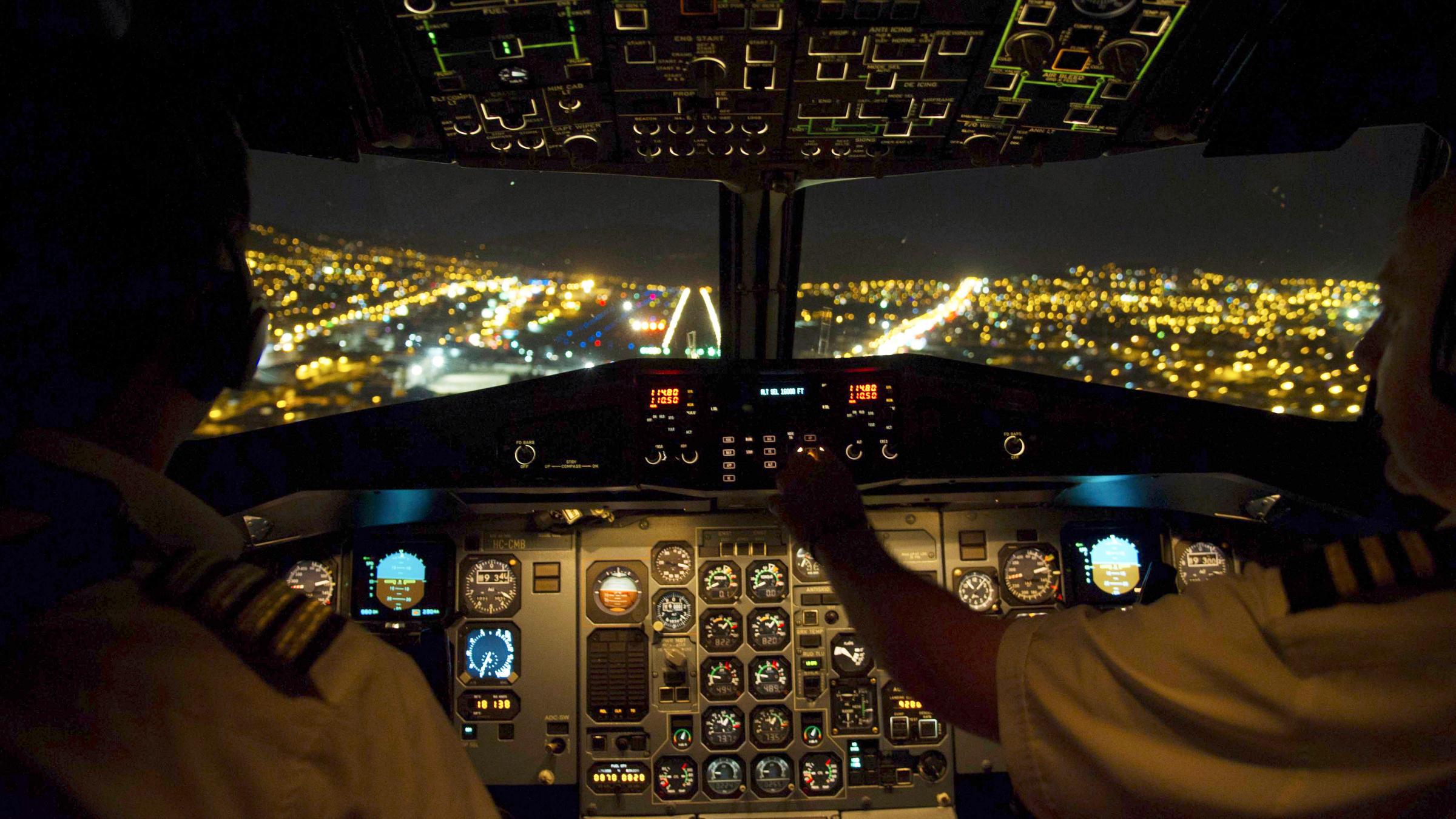 Laser pointer cockpit