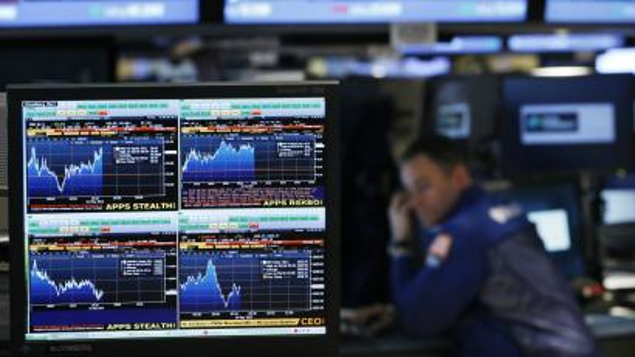 Bloomberg terminal trader trading