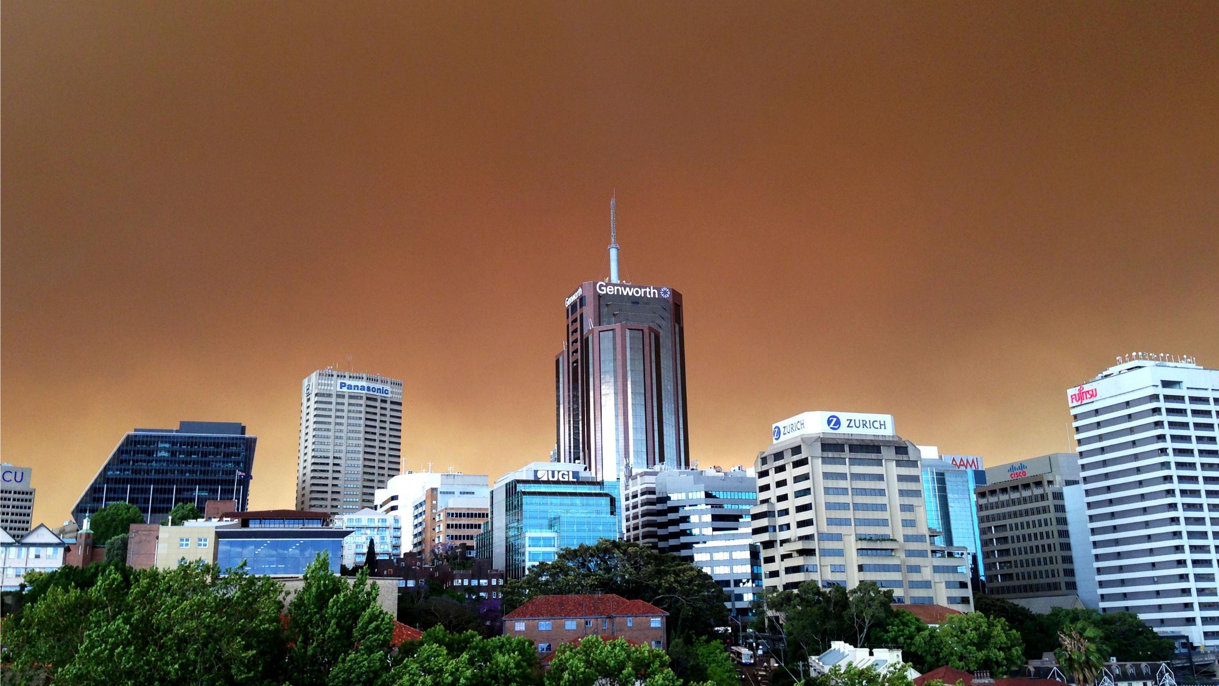 Sydney in smoke