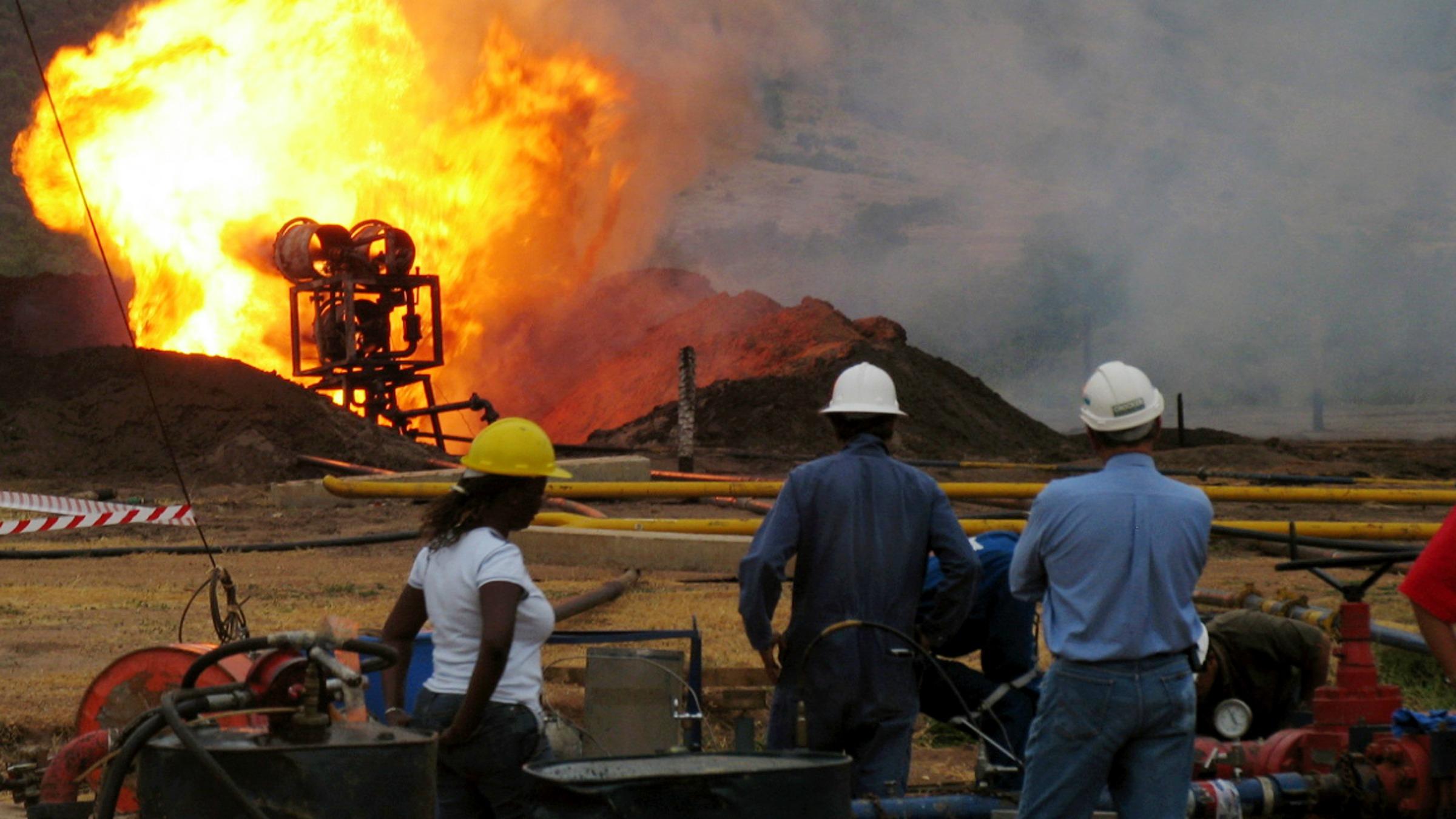 The oil curse burns.