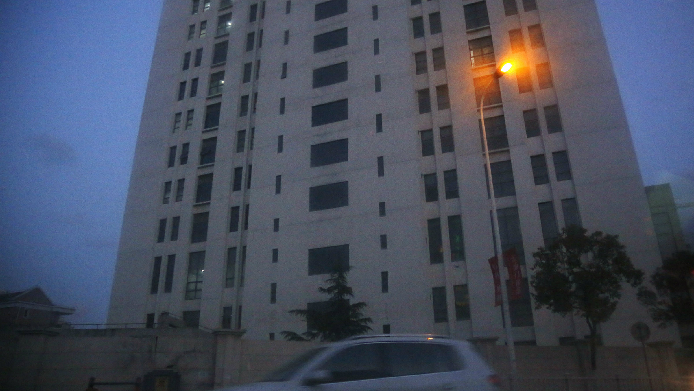 """The building in Shanghai housing """"Unit 61398"""" of the People's Liberation Army."""
