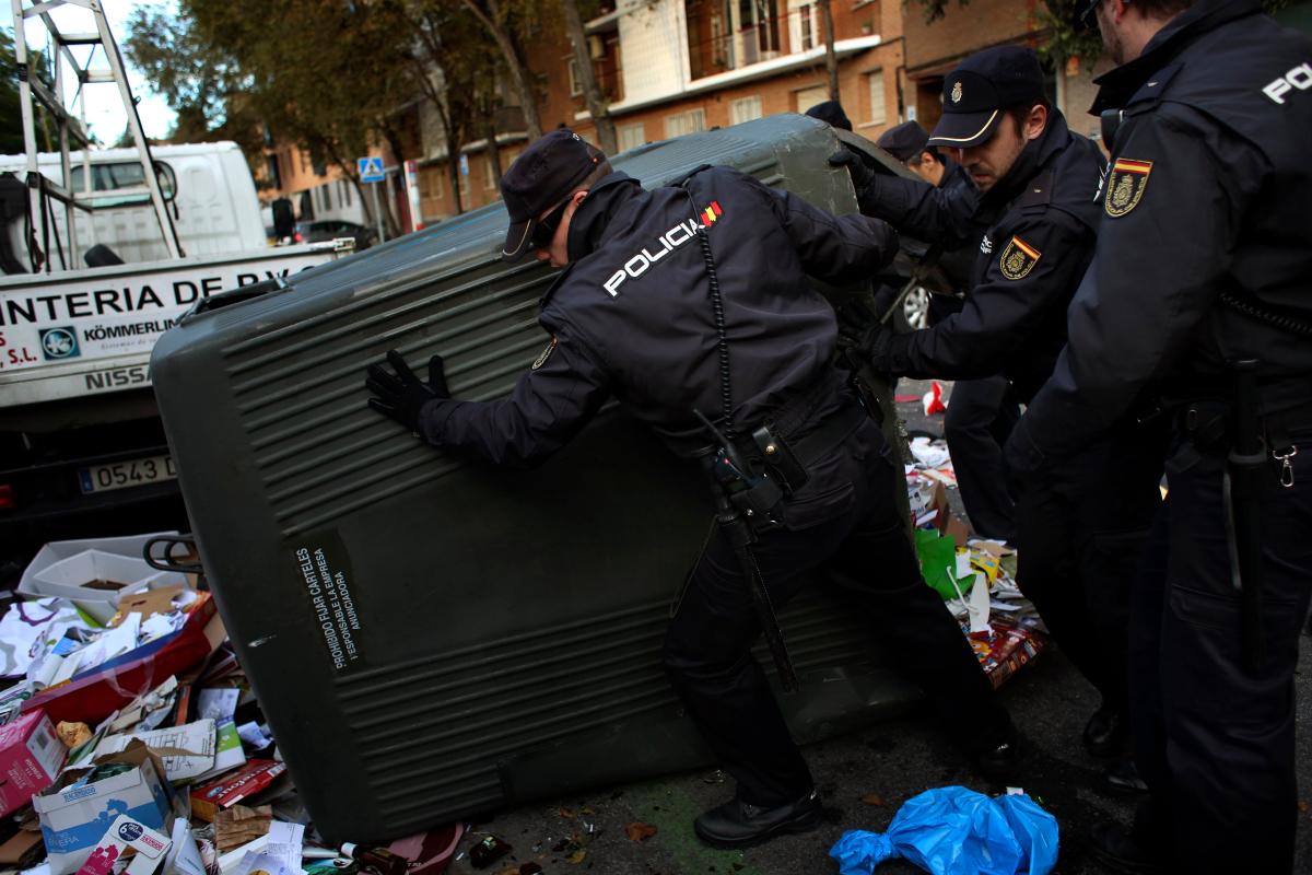 Madrid Street Cleaner Strike 2