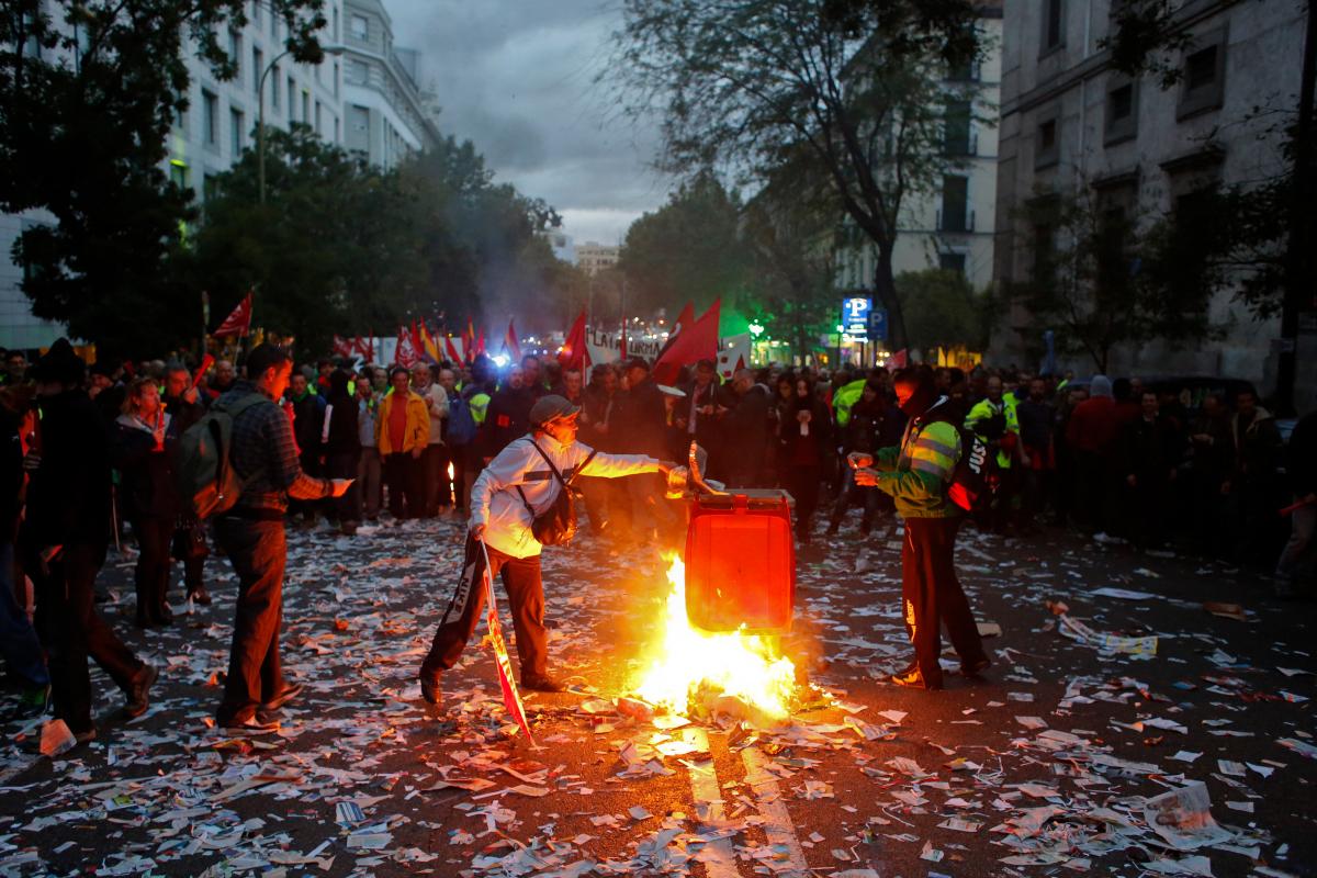 Madrid Street Cleaner Strike 4