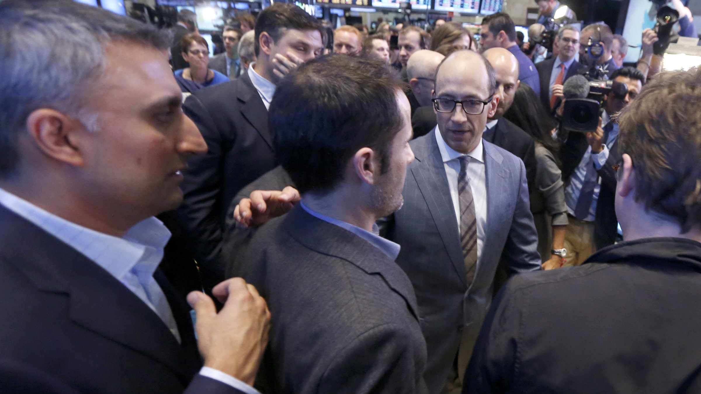 Dick Costolo lapping it up on the floor of the NYSE.