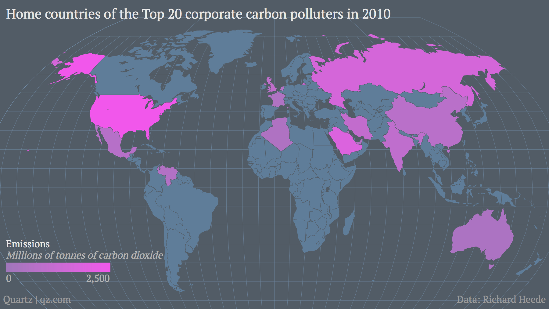 Top 20 corporate carbon polluters 2010