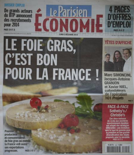 Foie gras is good for France, says Le Parisien
