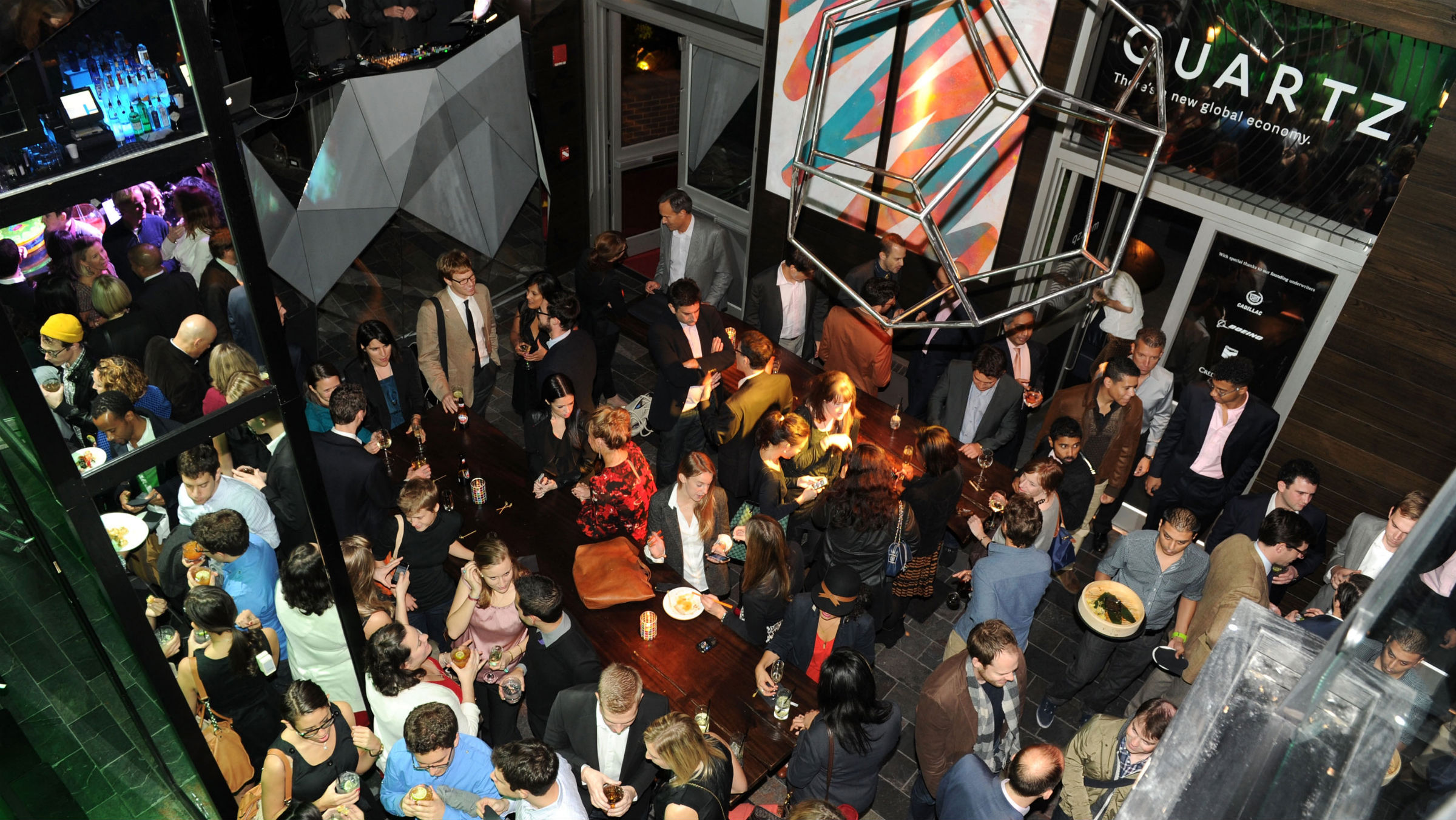 Quartz's launch party in New York on October 25, 2012.