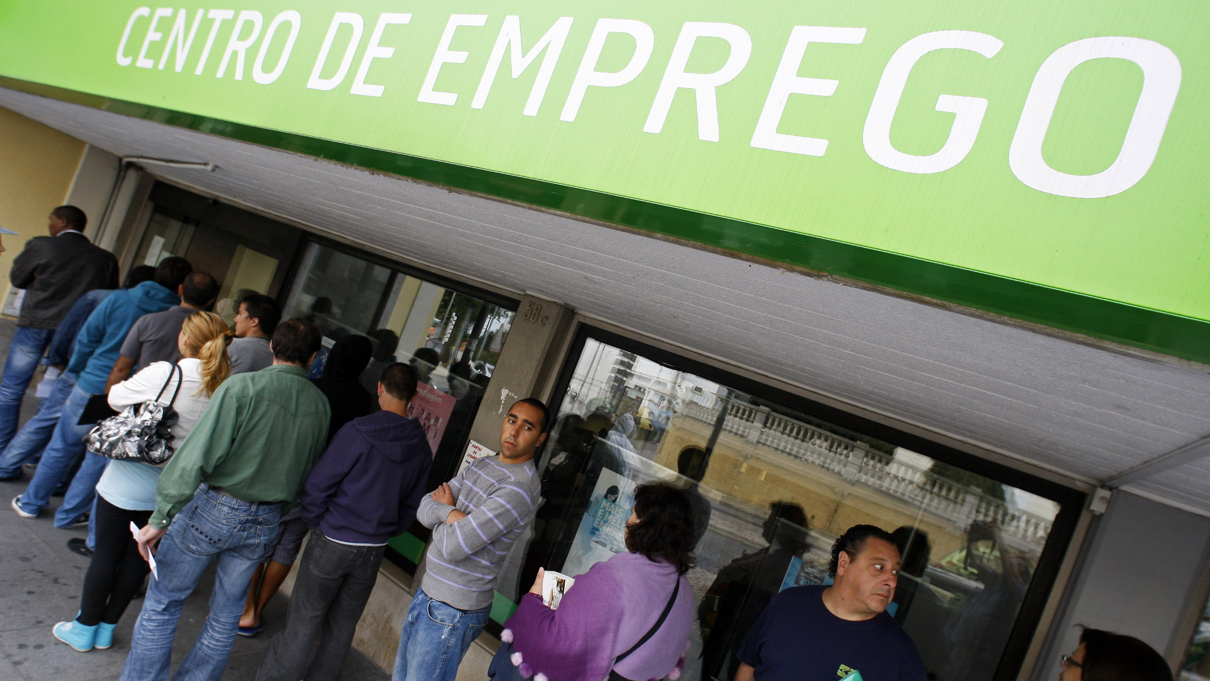 The lines at unemployment offices in Portugal are not quite as long.