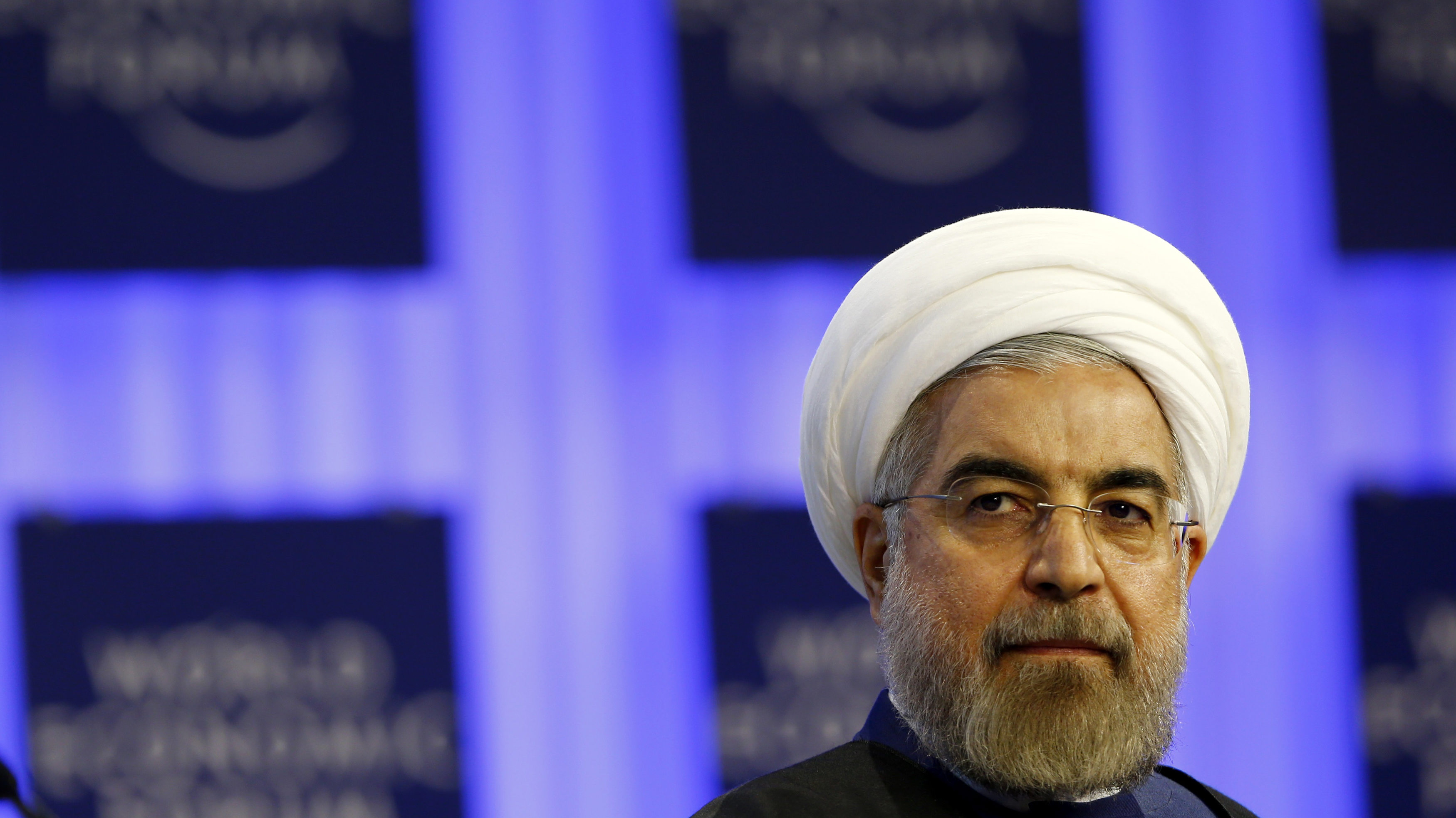 Iran's President Hassan Rouhani attends a session at the annual meeting of the World Economic Forum (WEF) in Davos.