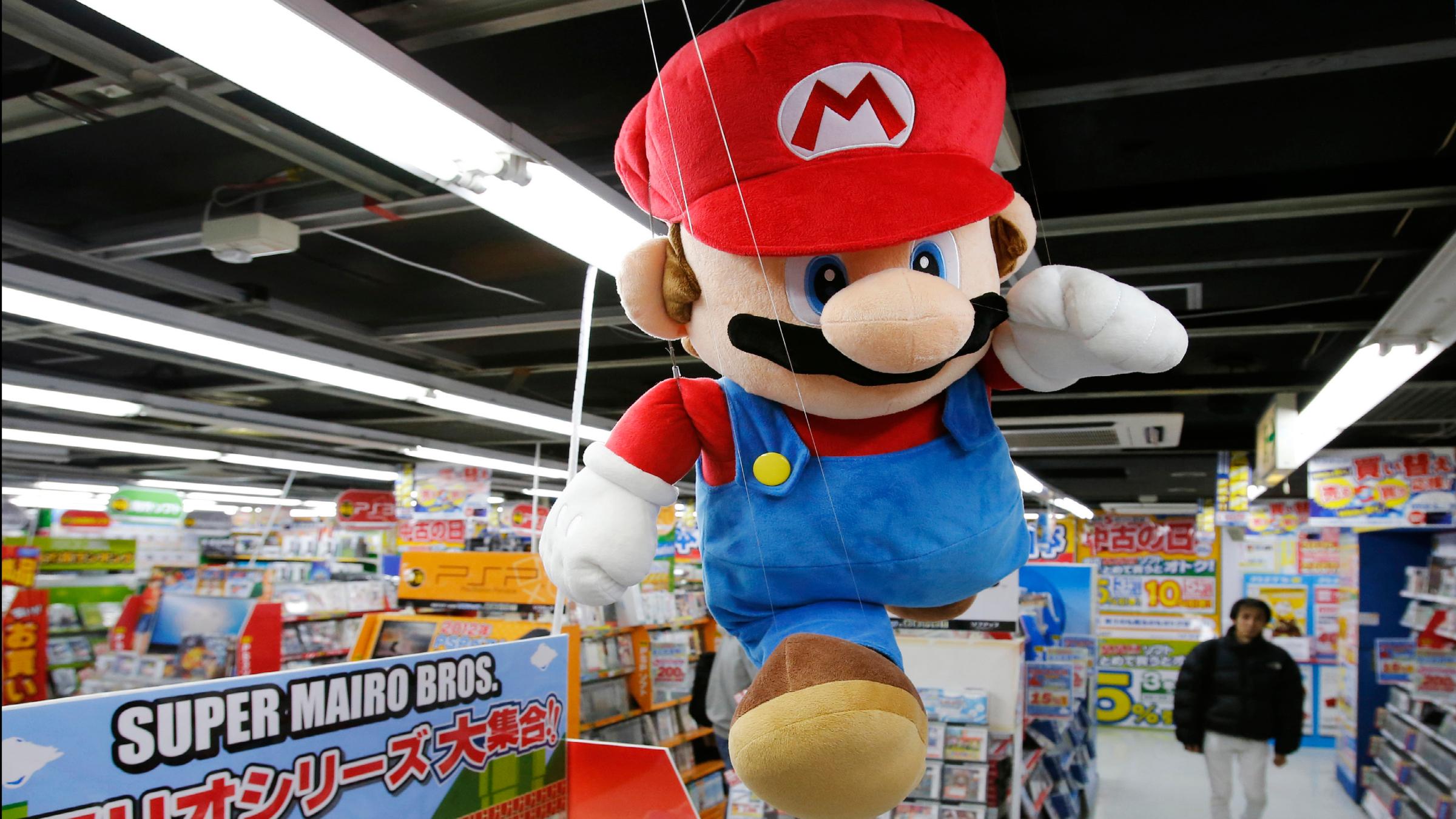 Mario running Nintendo