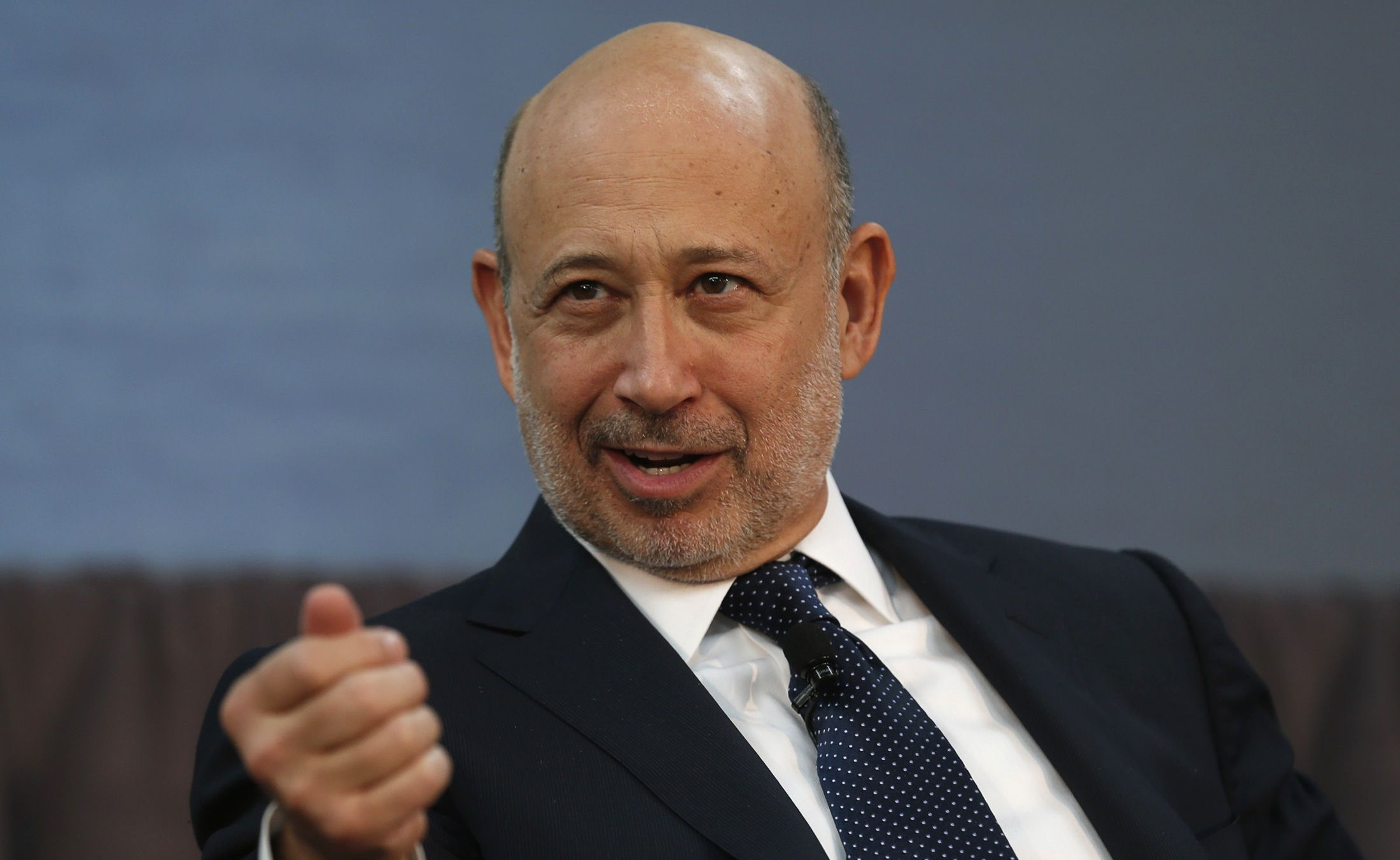 Goldman Sachs CEO Lloyd Blankfein takes part in a panel discussion  following a news conference announcing a $20 million partnership to bring Goldman Sachs' 10,000 Small Businesses initiative to the city of Detroit, Michigan November 26, 2013. REUTERS/Rebecca Cook (UNITED STATES - Tags: BUSINESS EMPLOYMENT) - RTX15U4J