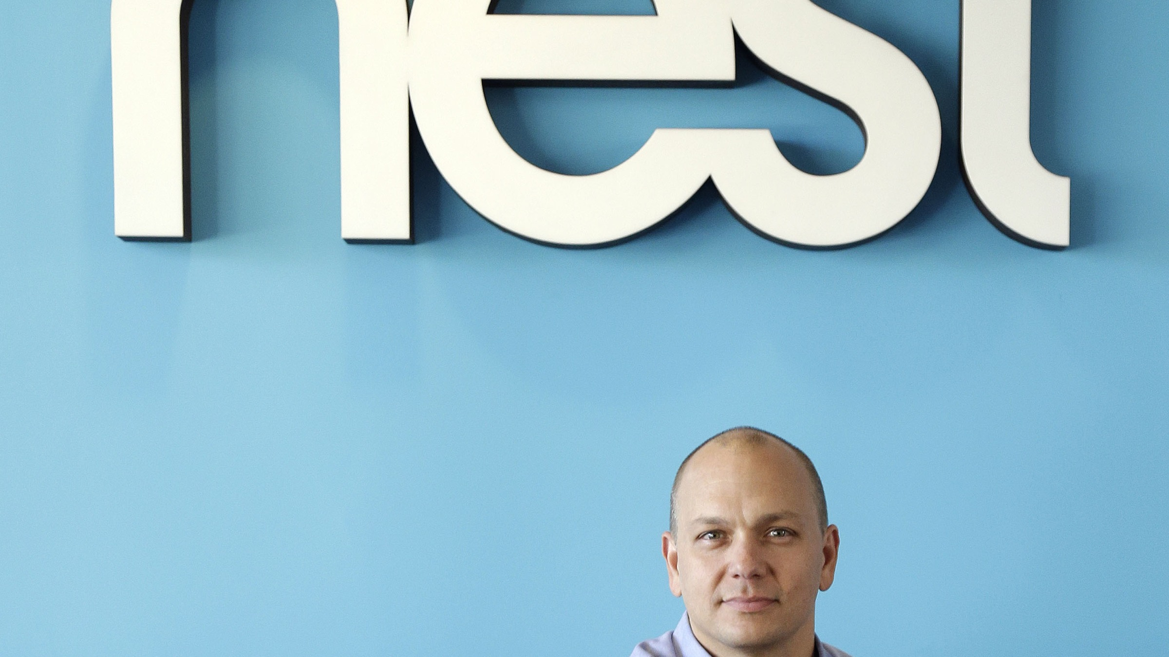 In this  Tuesday, Oct. 1, 2013, photo, Tony Fadell, Founder and CEO of Nest, poses for a portrait in the company's offices in Palo Alto, Calif. (AP Photo/Marcio Jose Sanchez)