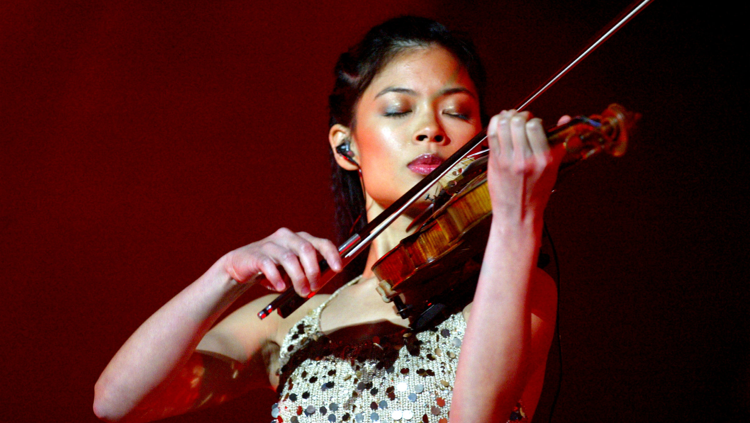 Vanessa Mae during a Cape Town performance.