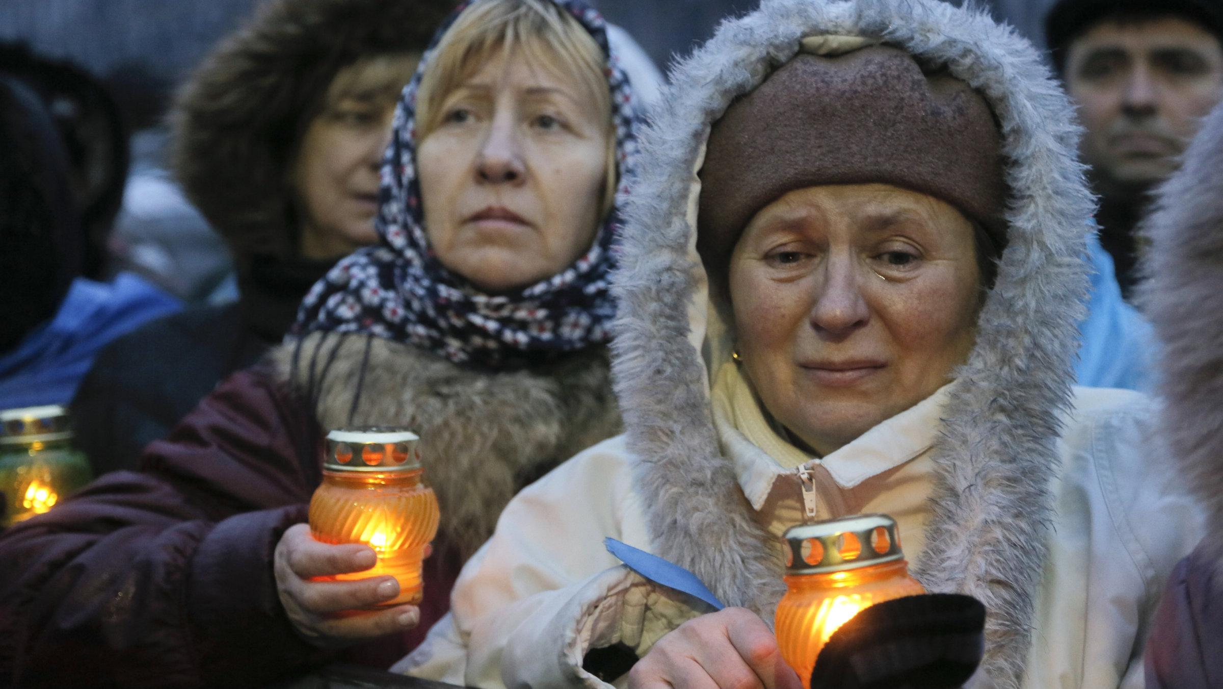 ukraine protestors at vigil