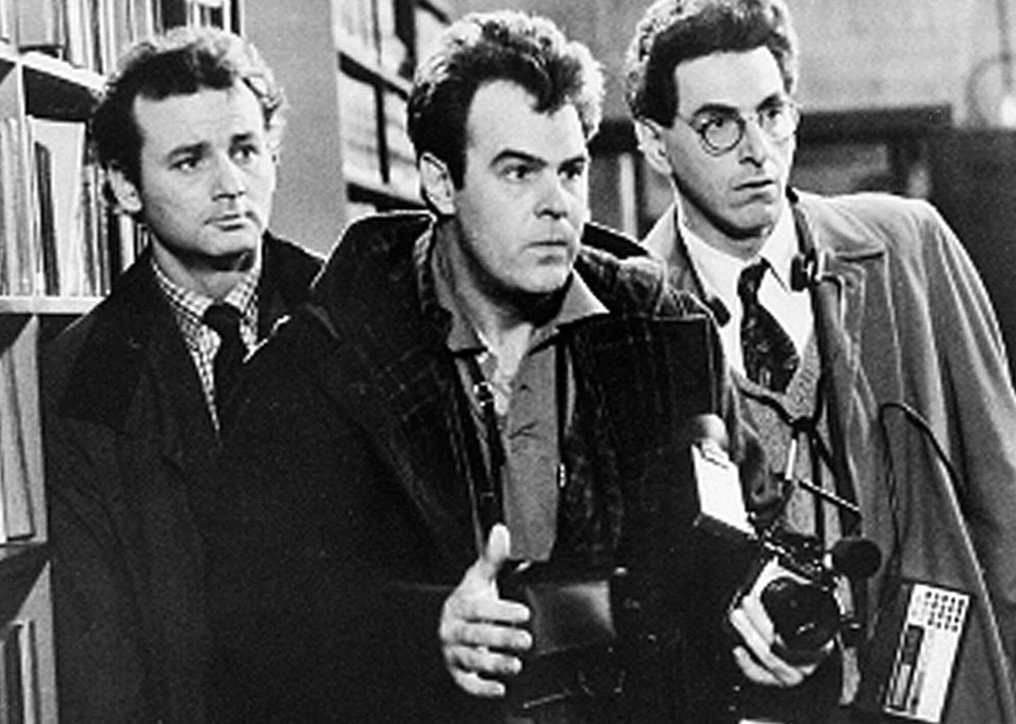 "Shown in this scene from the 1984 movie ""Ghostbusters"" are Bill Murray, Dan Aykroyd, center, and Harold Ramis. (AP Photo)"