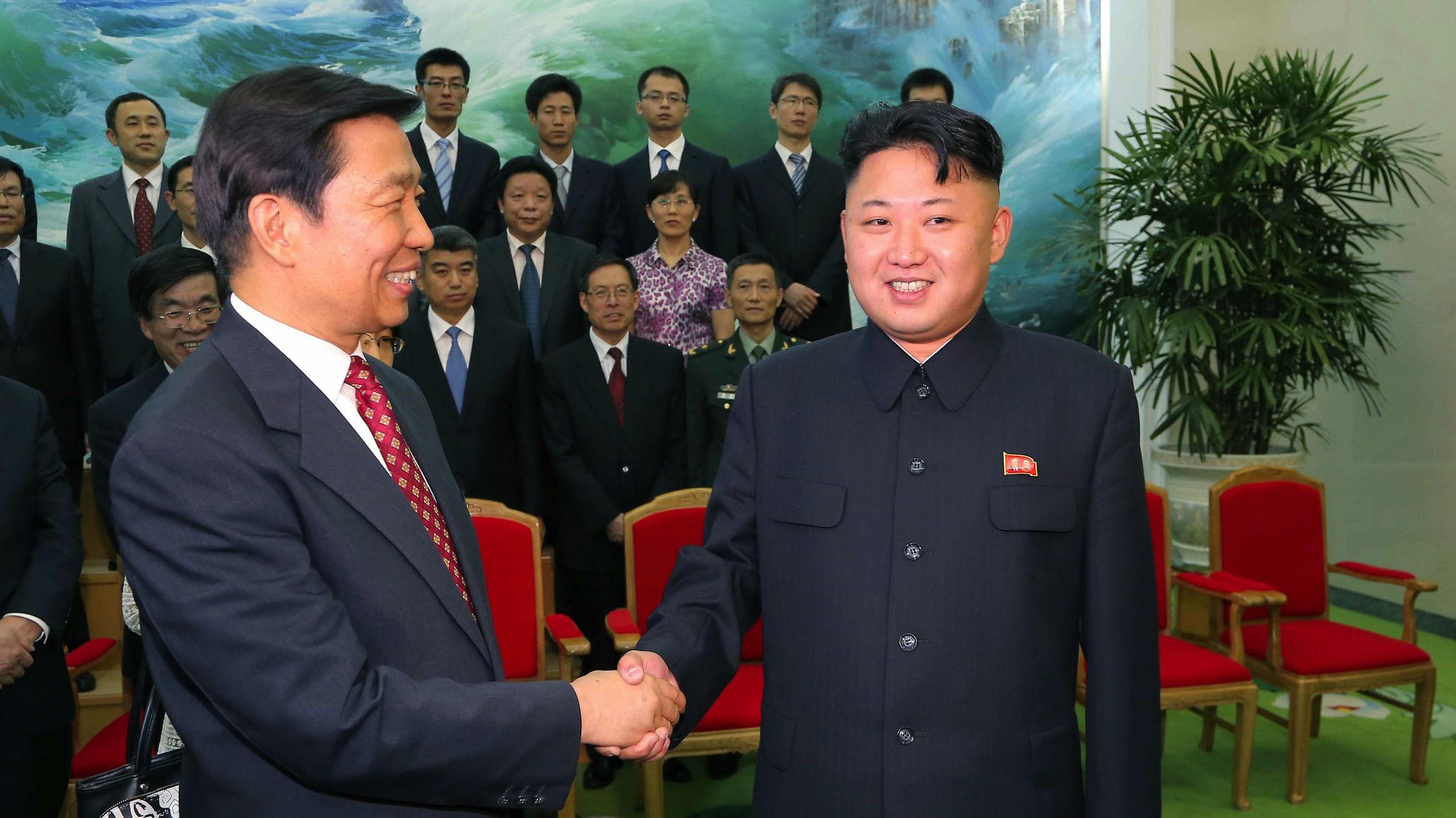Chinese Vice President Li Yuanchao meets Kim Jong-un