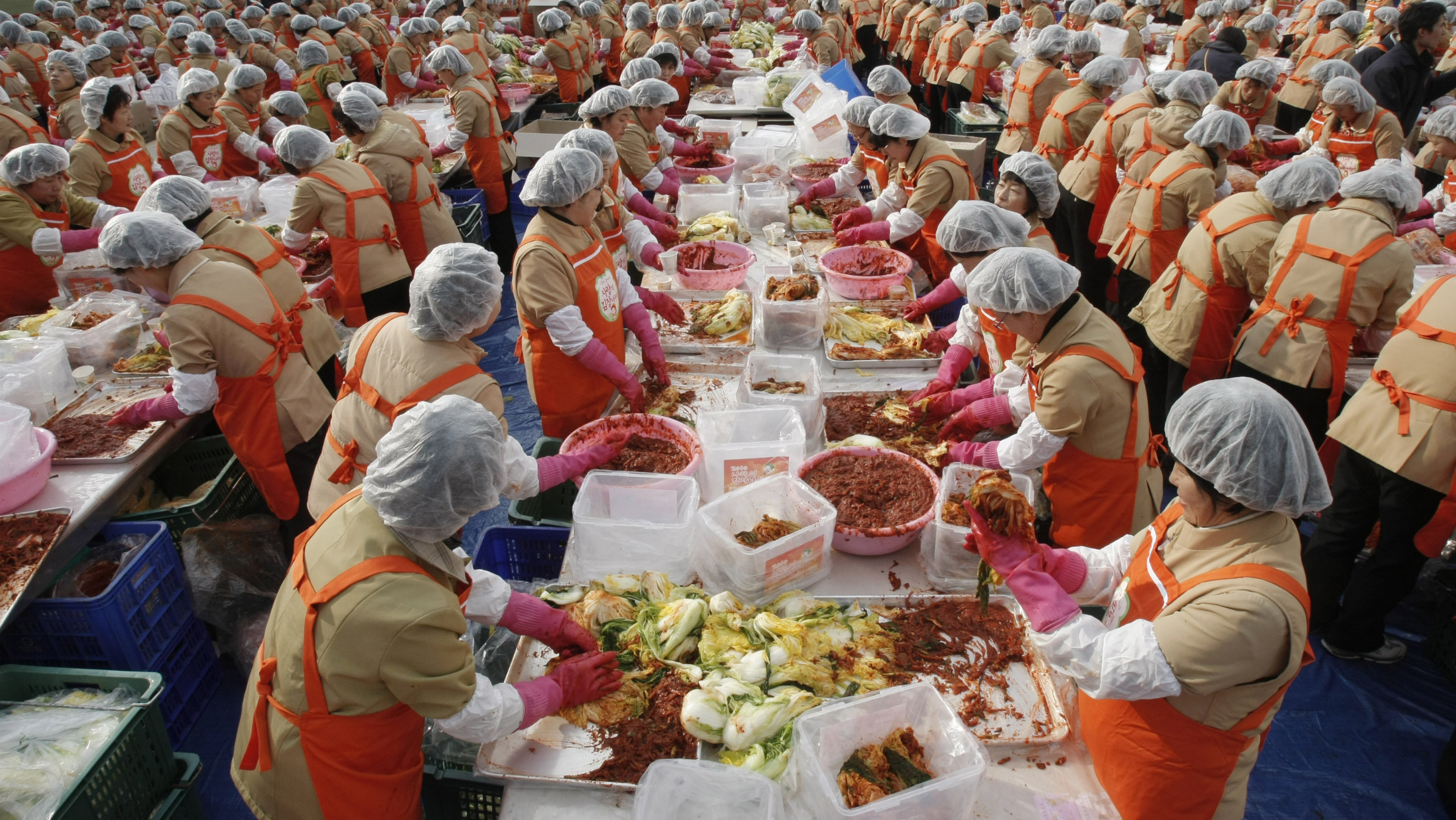 We're not saying Korea isn't still huddling up to churn out some serious kimchi.