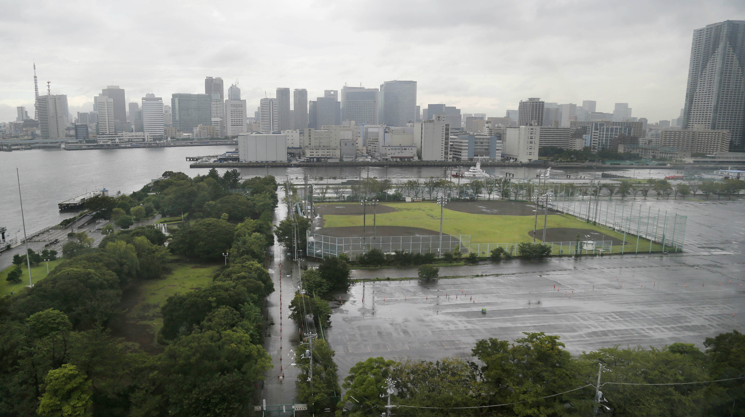 Tokyo's site for the athletes village for the 2020 Olympics.