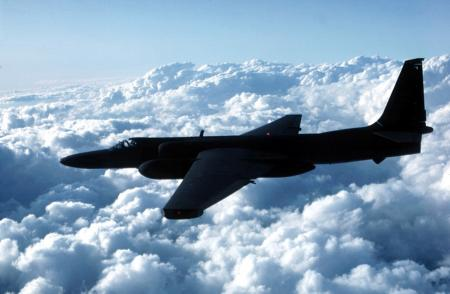 This undated photo released by the US Air Force shows a U-2 spy plane similar to the plane that crashed in southwest Asia Wednesday June 22, 2005. The U-2 provides continuous day or night, high-altitude, all-weather, stand-off surveillance of an area in direct support of U.S. and allied ground and air forces. The U-2 is a single-seat, single-engine, high-altitude, reconnaissance aircraft. Long, wide, straight wings give the U-2 glider-like characteristics. The cause of the crash and the pilot's status were not known, U.S. Central Command in Baghdad said in a brief written statement. The crash happened Tuesday night. The military did not immediately provide further details.